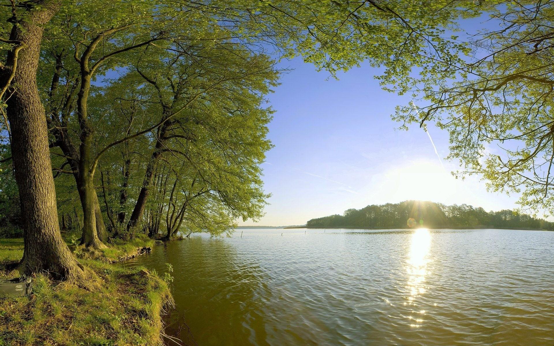 солнце берег реки картинки фото вас есть навес