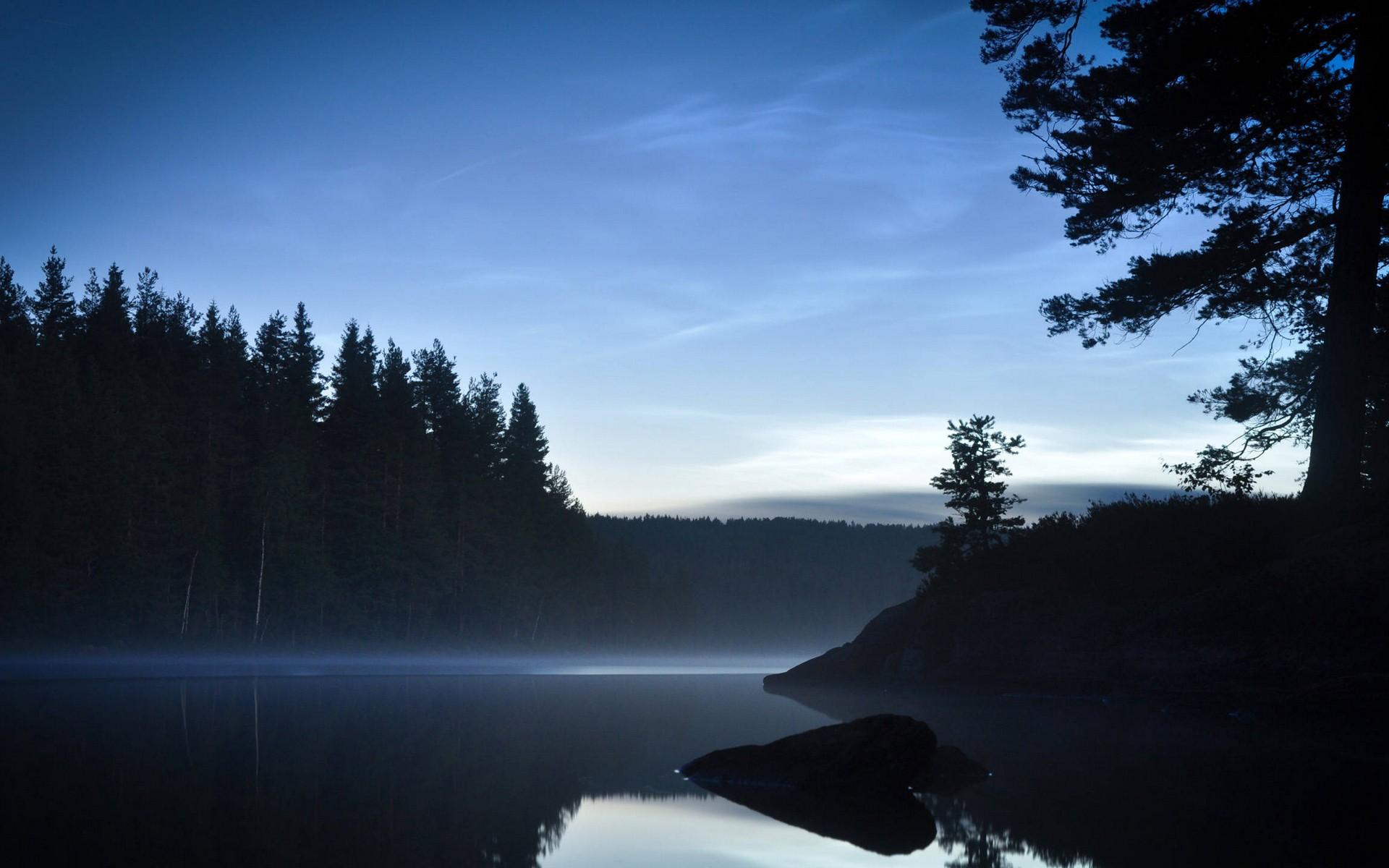 какой картинки лесное озеро ночью есть ряд причесок
