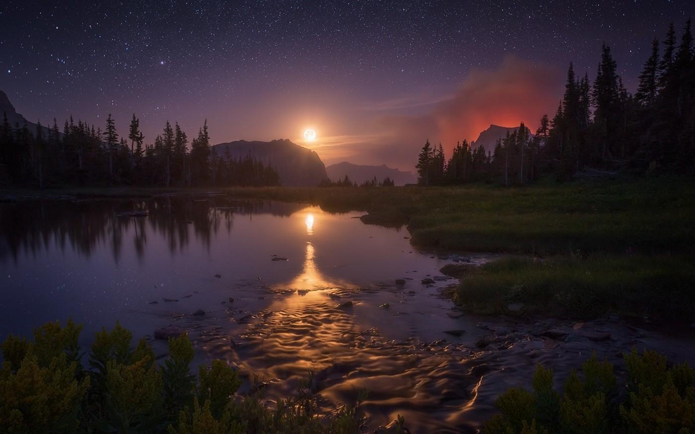 картинка ночной берег озера нас можно заказать