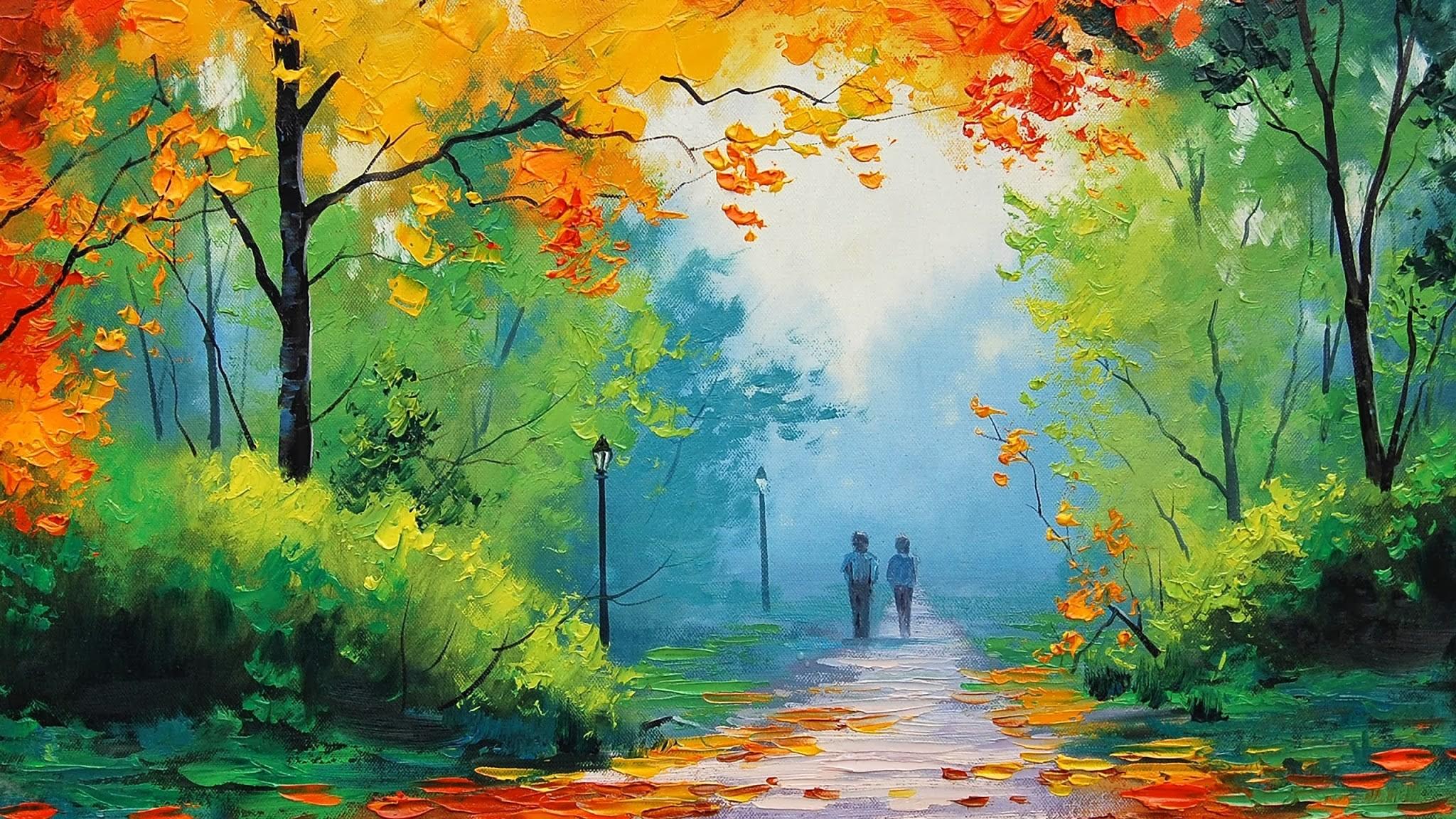 Осенние картинки для детей яркие нарисованные