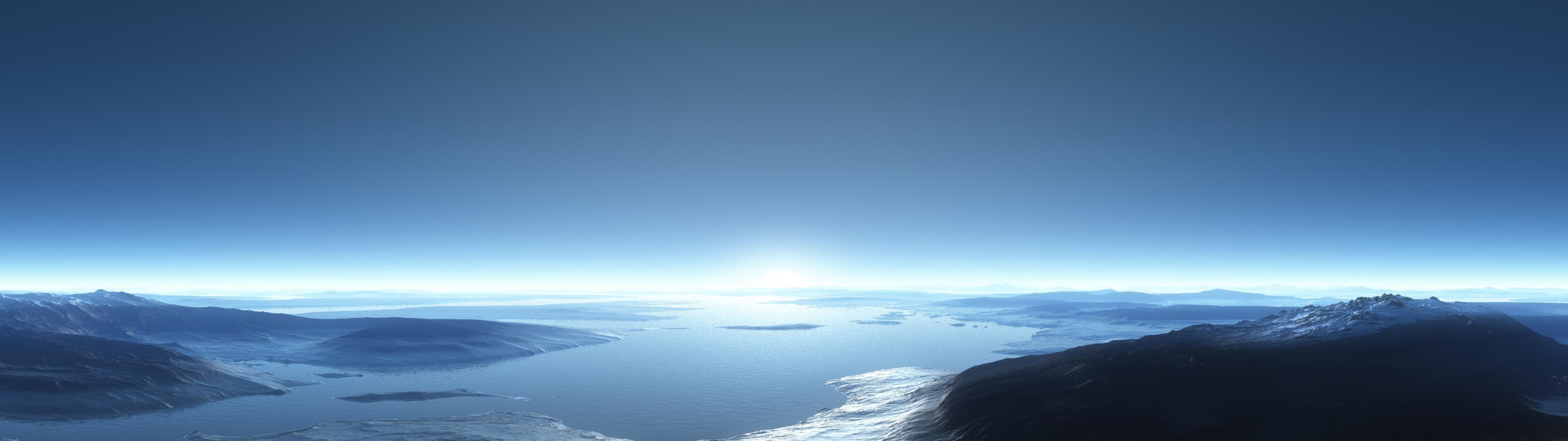 デスクトップ壁紙 日光 水 空 雪 地平線 雰囲気 パノラマ