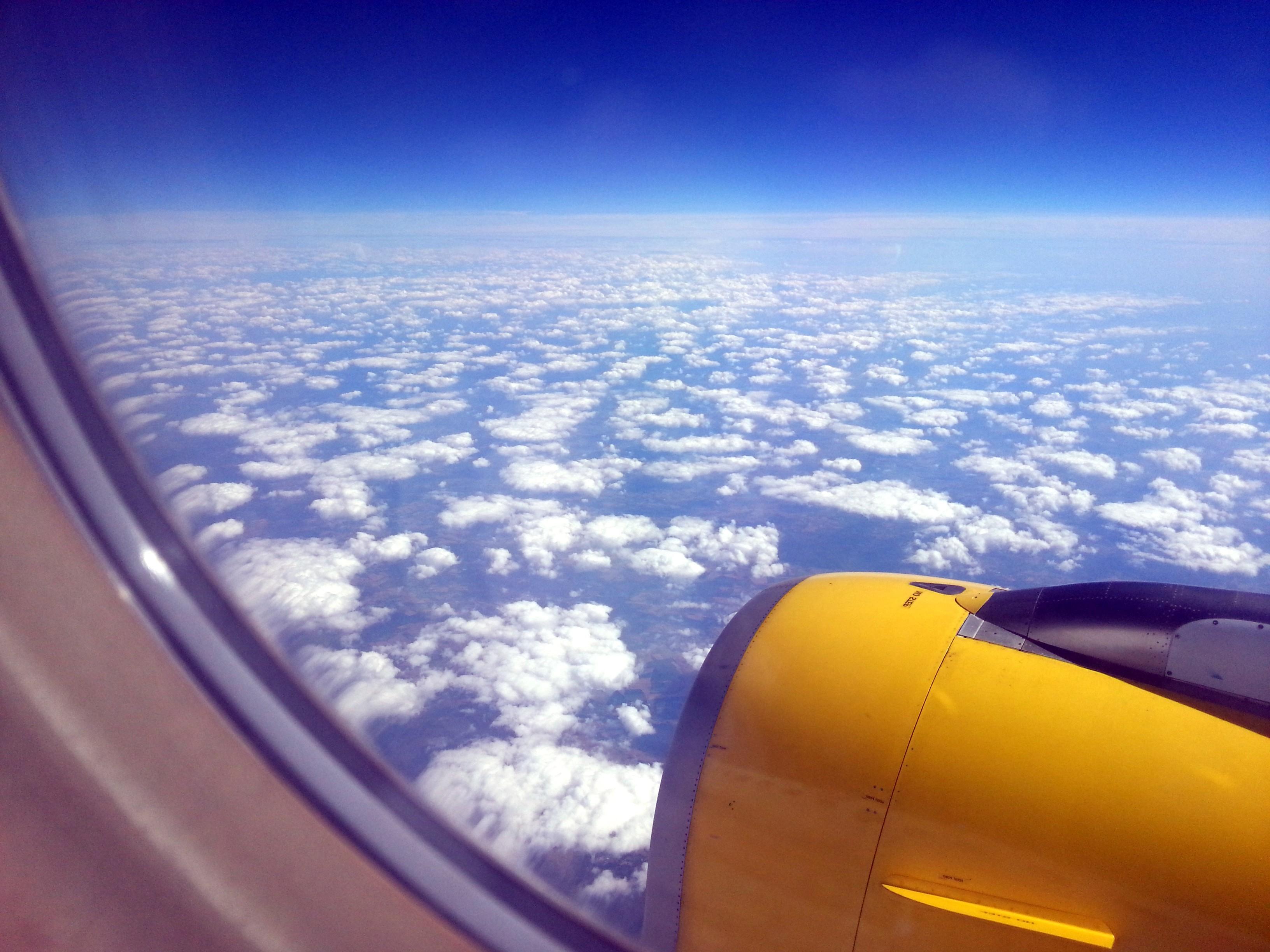 Обои Облака, Самолёт, красиво, 2015. Авиация foto 16