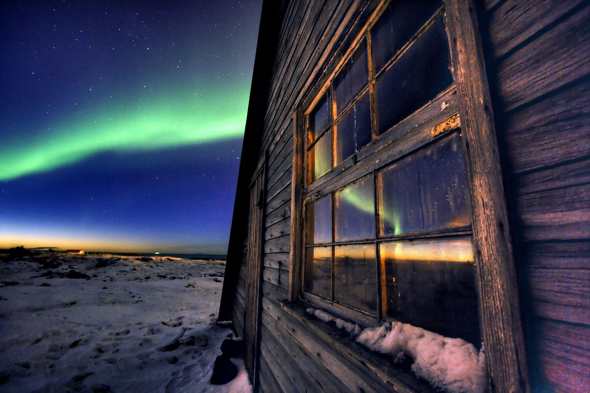 Обои рейкьявик, Исландия, ночь, свет. Города foto 13