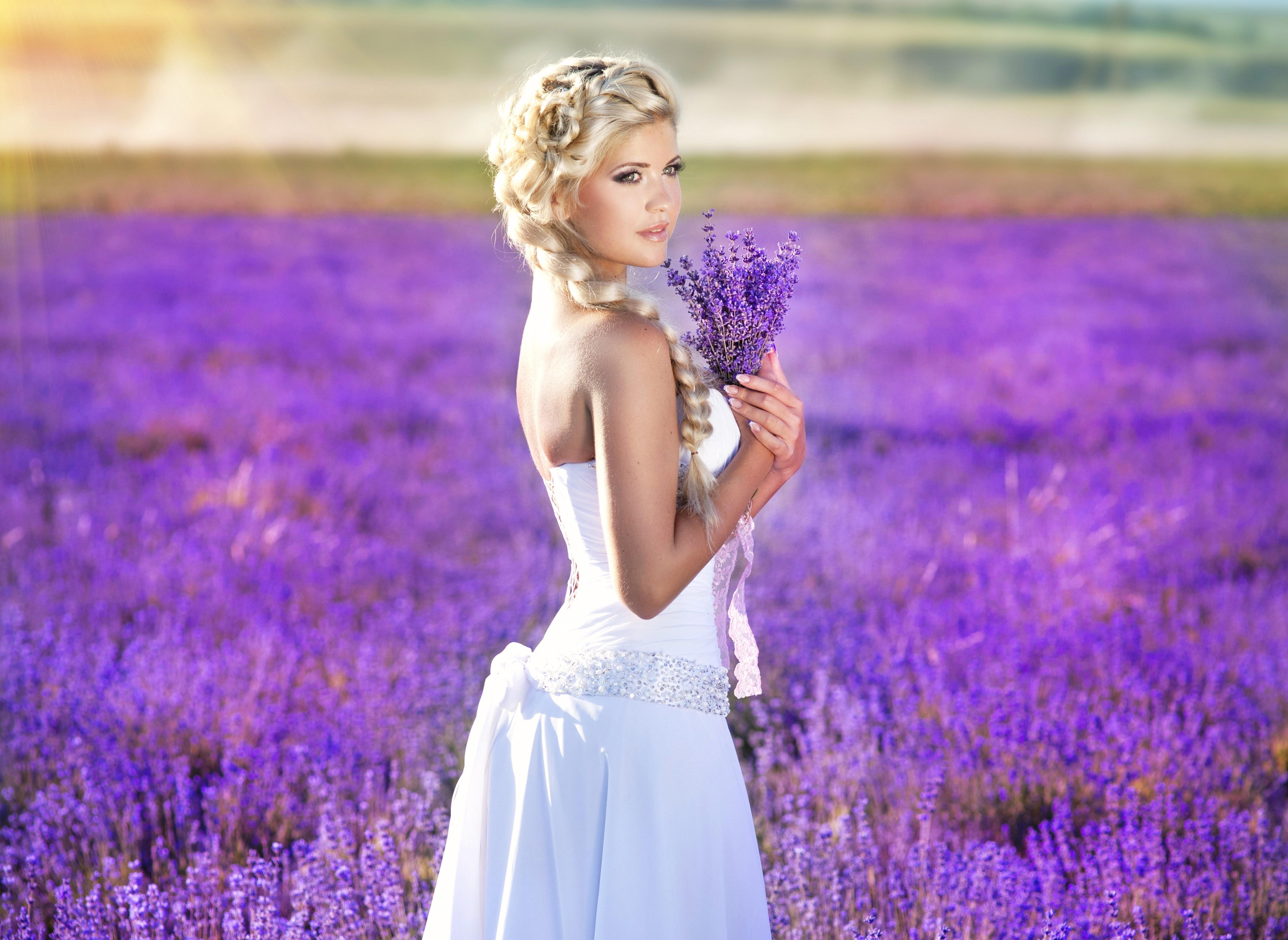 Wallpaper Sunlight Women Outdoors Model Blonde Depth Of Field