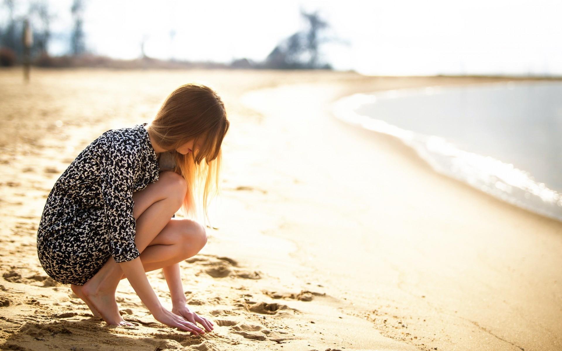 Capelli lisci in spiaggia