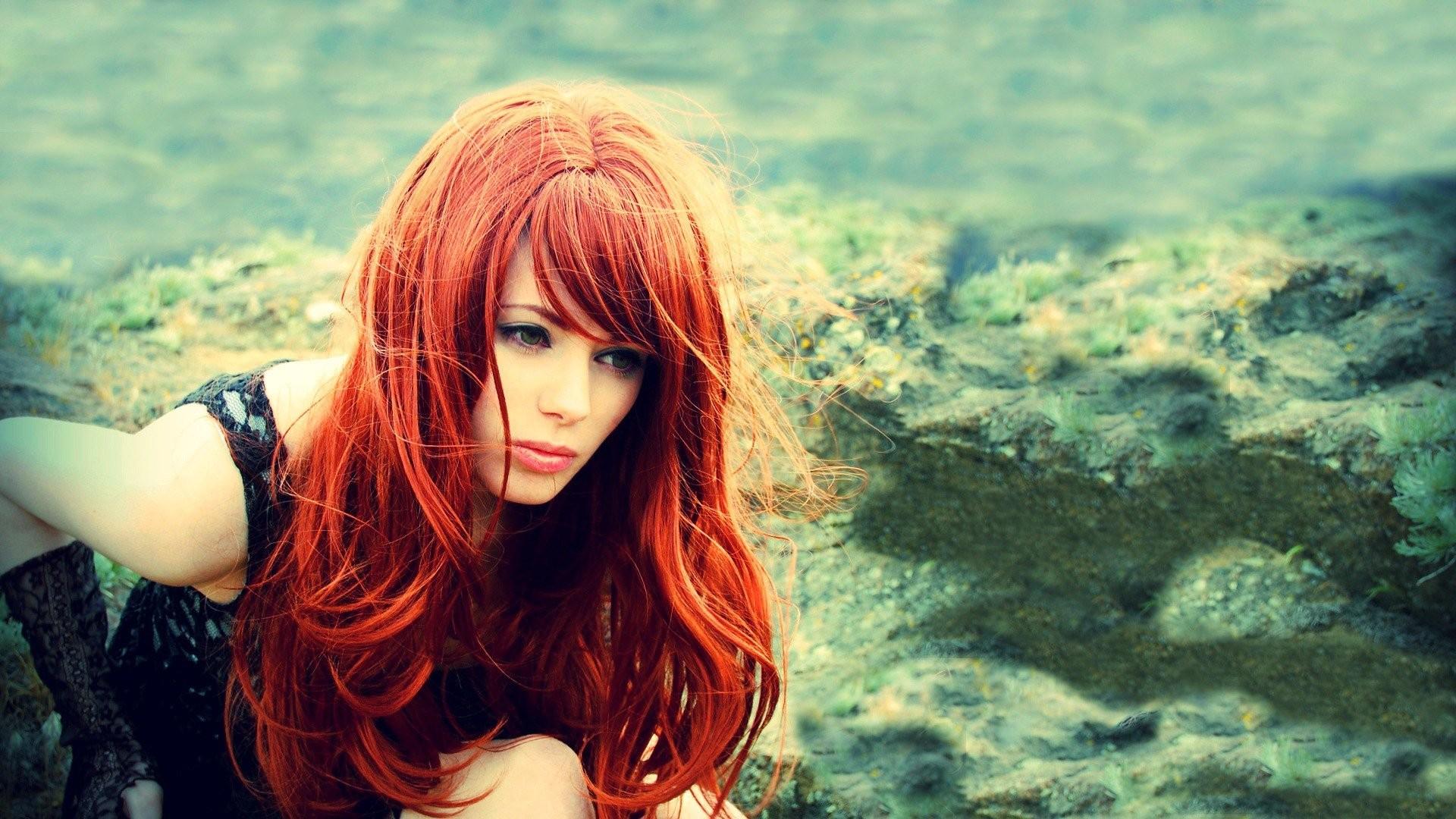 Красивые рыжие девушки картинки