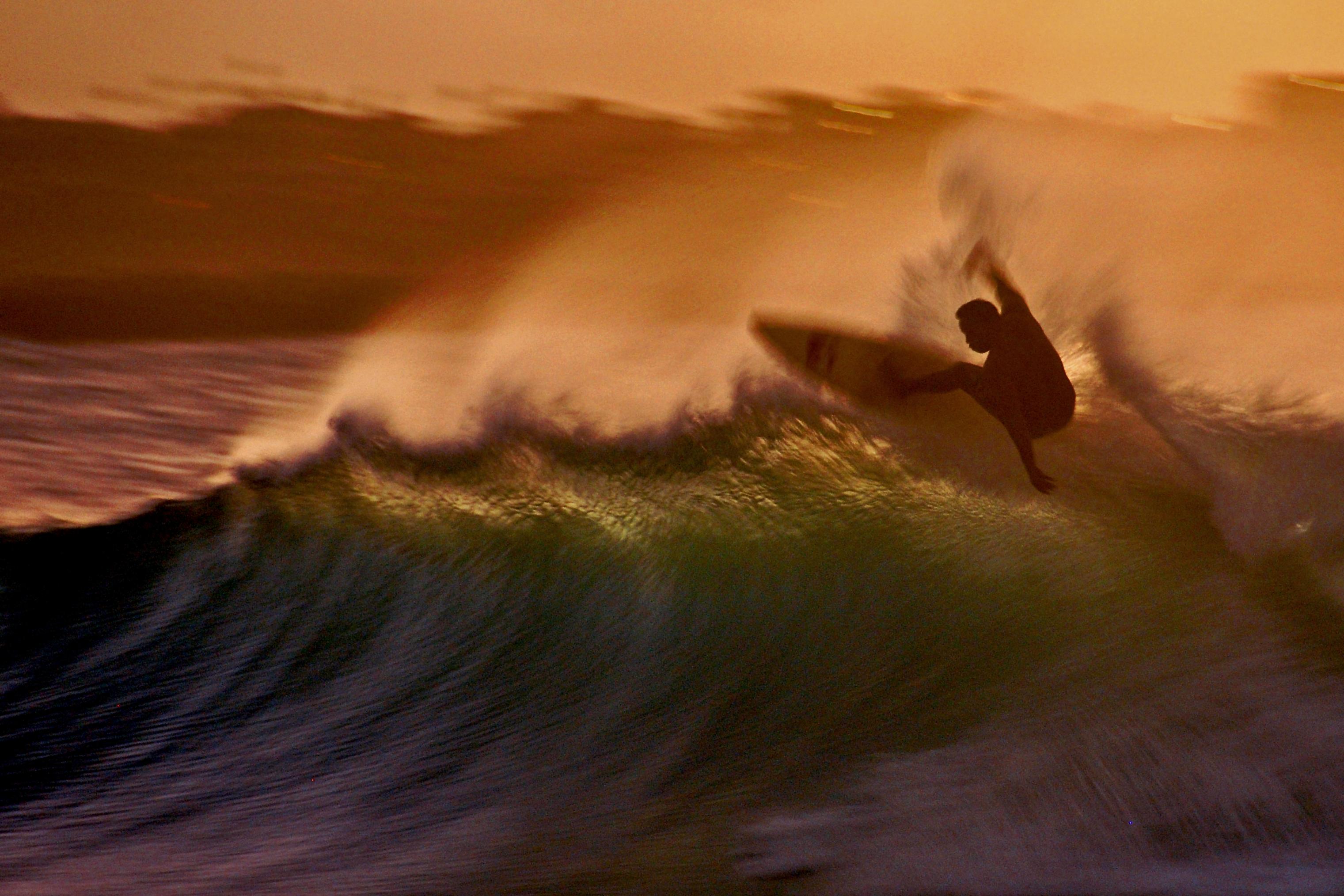 Wallpaper Sunset Surf Maui Surfing Honolua 3042x2028