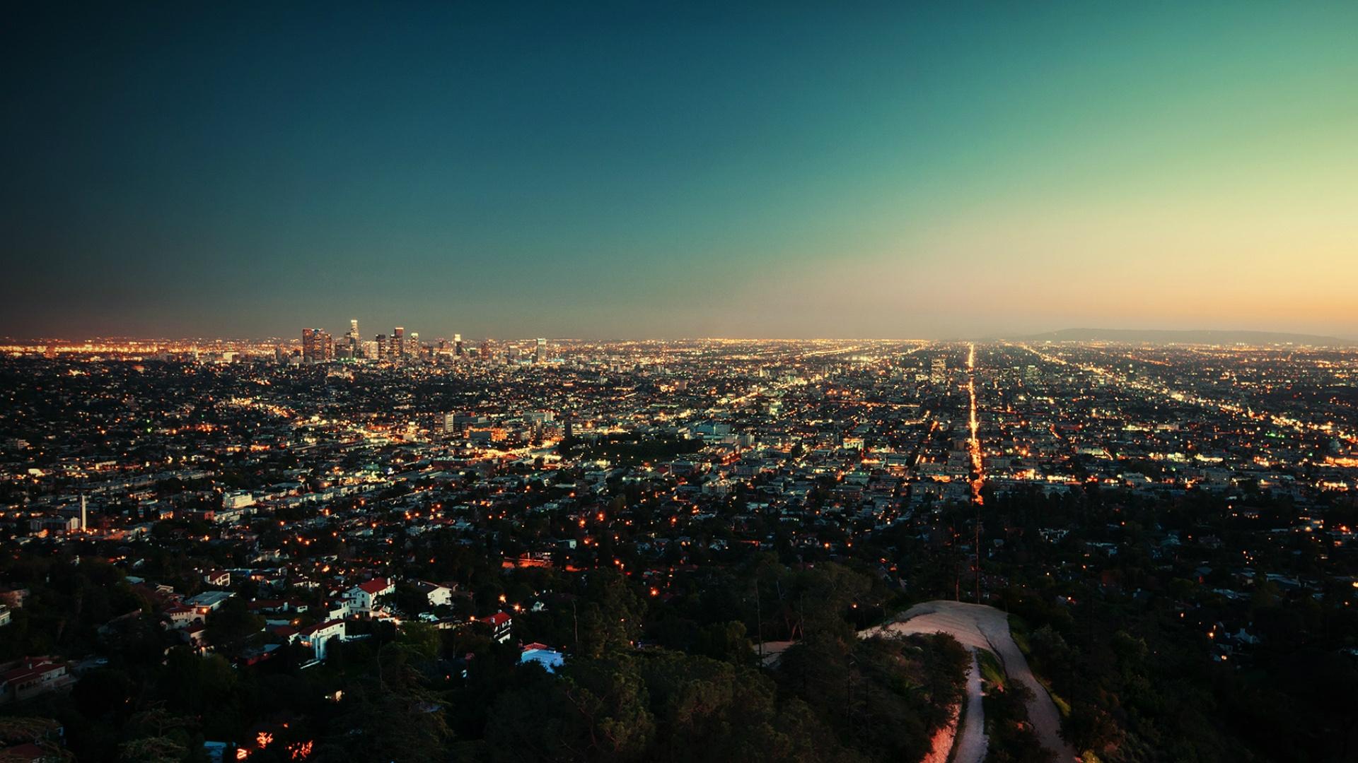 Fond D Ecran Le Coucher Du Soleil Etats Unis Los Angeles