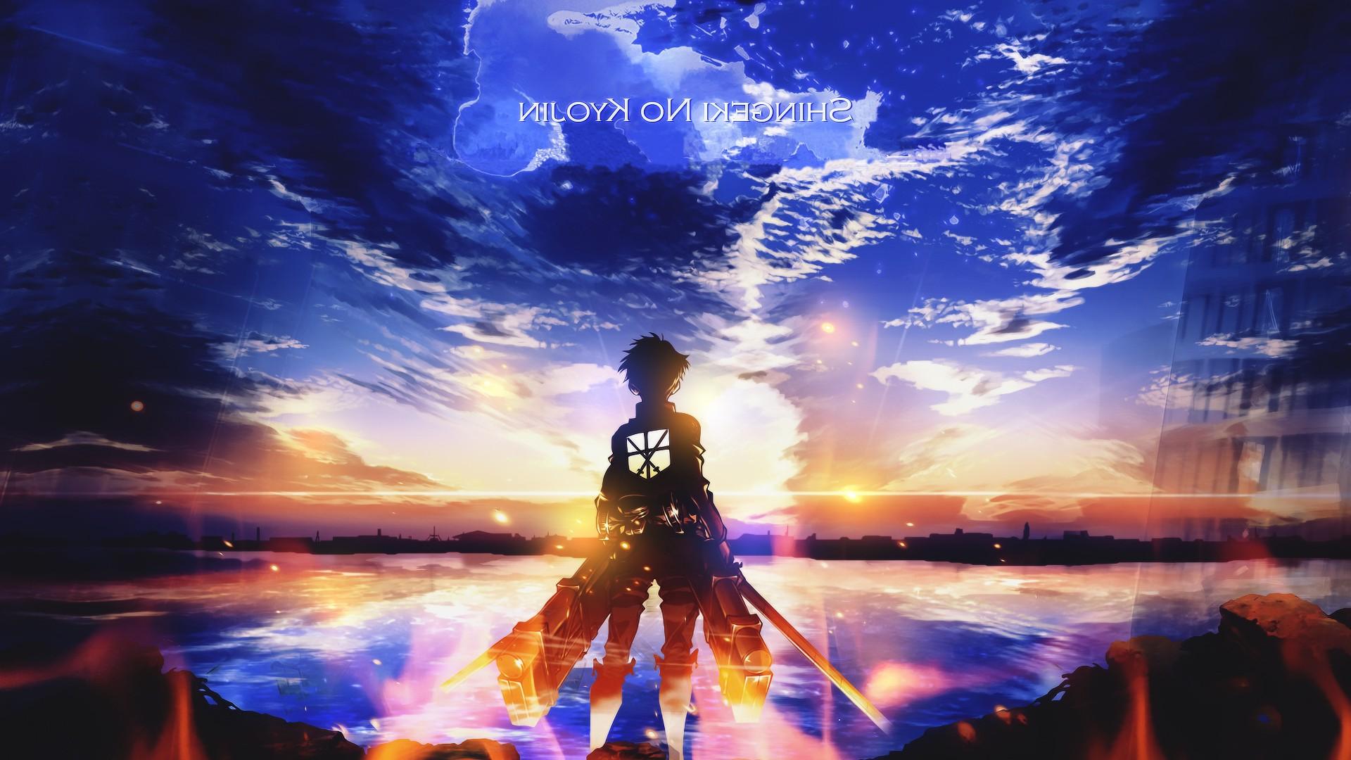 Wallpaper Sunset Anime Boys Water Nature Reflection Sky Evening Shingeki No Kyojin World Atmosphere Eren Jeager Light Fun Darkness 1920x1080 Px Computer Wallpaper Special Effects Phenomenon Theatrical Scenery 1920x1080 4kwallpaper