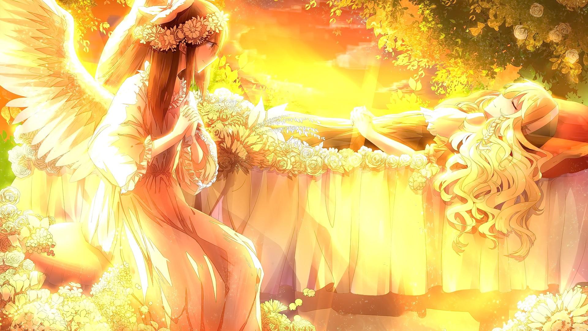 картинка солнышко и ангел чем начать