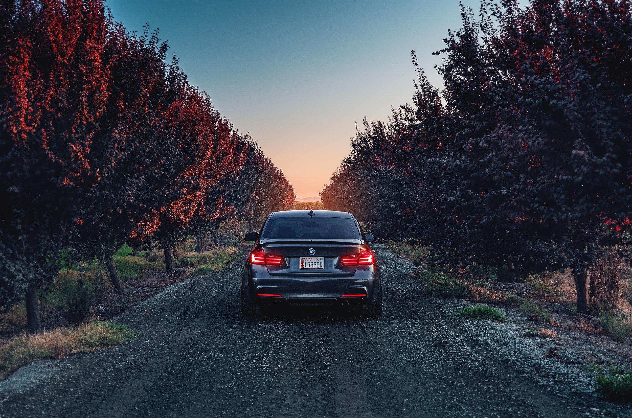 Wallpaper : sunset, car, BMW, vehicle