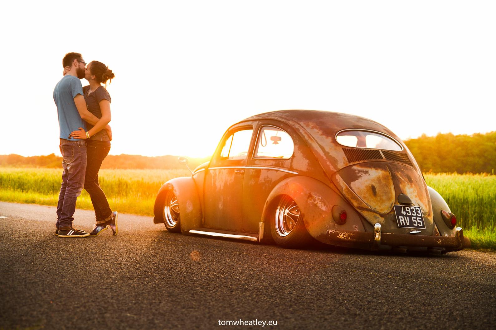 wallpaper sunset evening volkswagen beetle canon bug vintage car stance air low. Black Bedroom Furniture Sets. Home Design Ideas