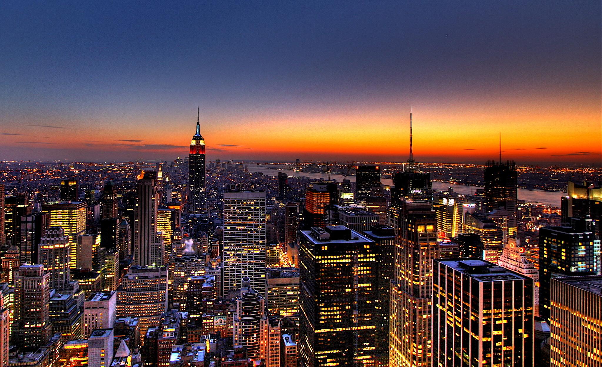 Обои горизонт, здание, new york, небоскребы. Города foto 8