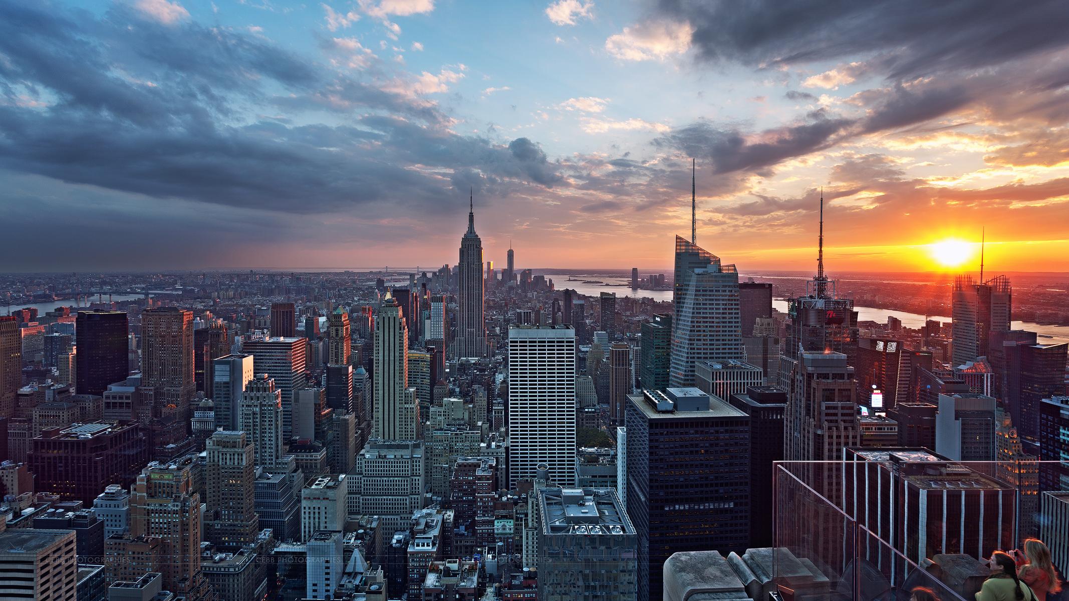 Обои buildings, downtown, skyscrapers, Sunset, сша, new york city. Города foto 13