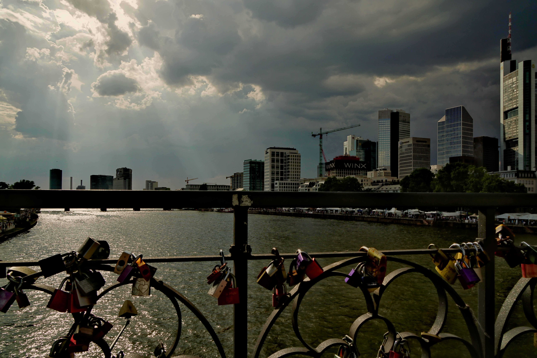 Morgen Frankfurt hintergrundbilder sonnenuntergang stadt stadtbild himmel