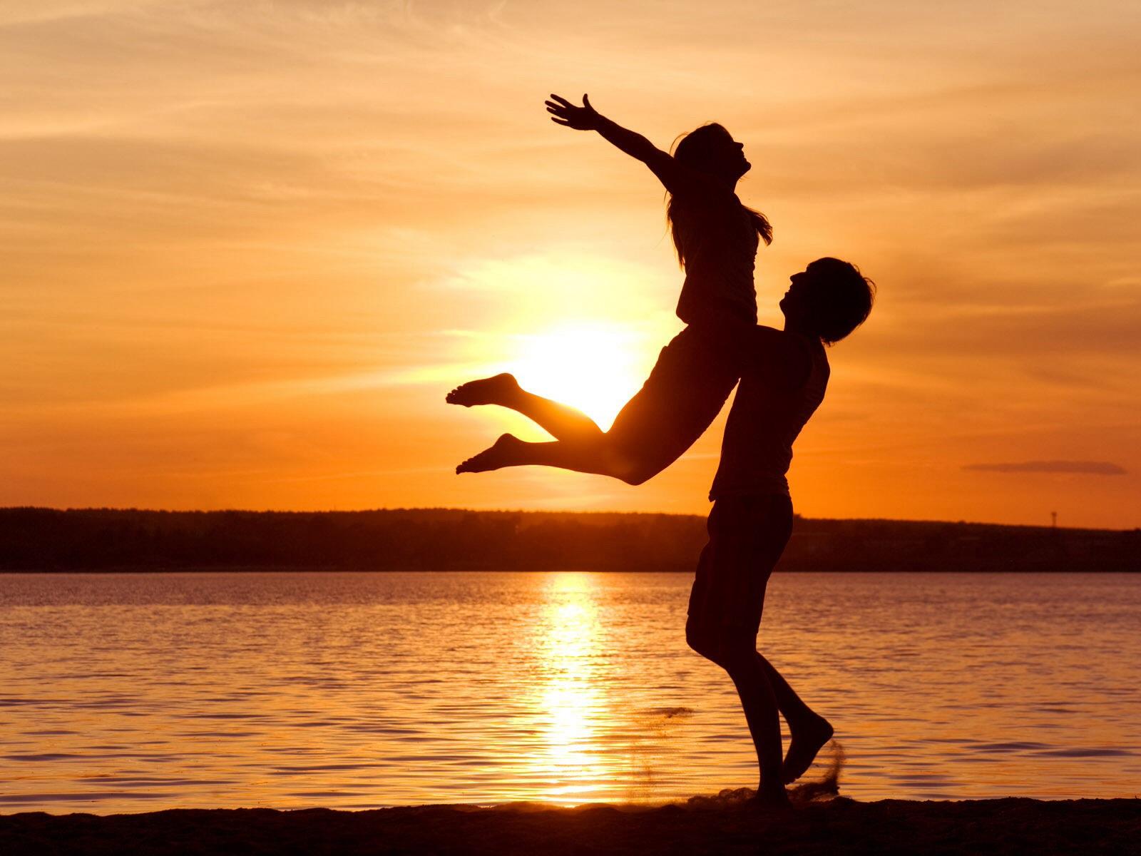 image amour coucher de soleil