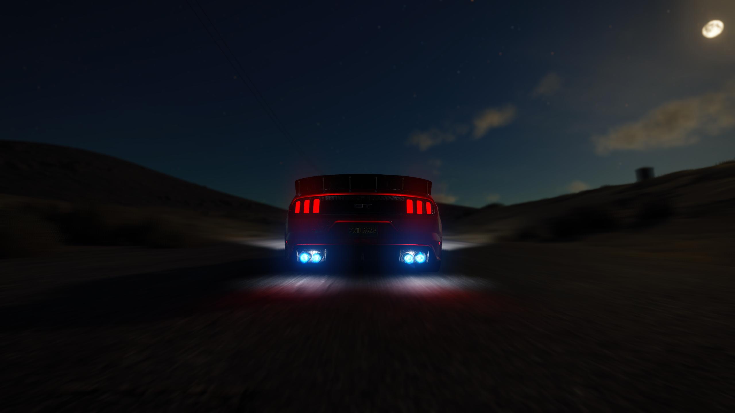 sunset night car reflection evening The Crew Ford Mustang GT nitro dusk driving light lighting darkness