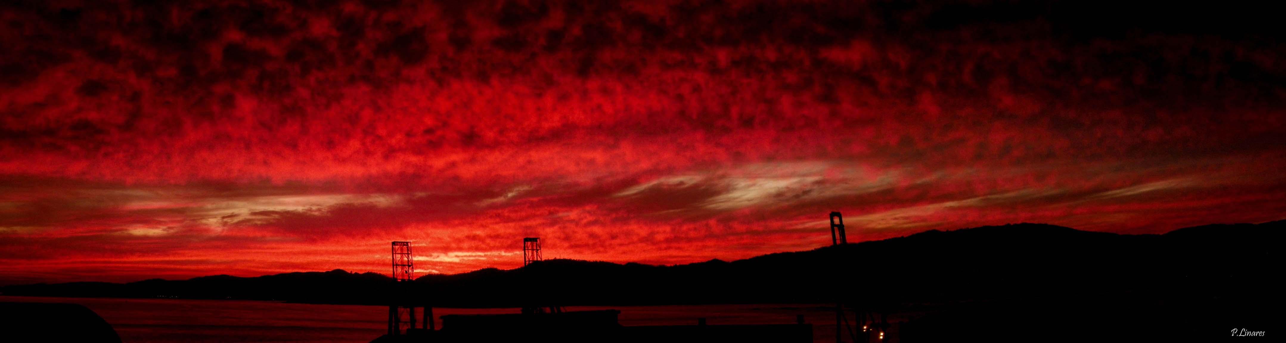 Wallpaper Sunset Red Sky Atardecer Fire Twilight