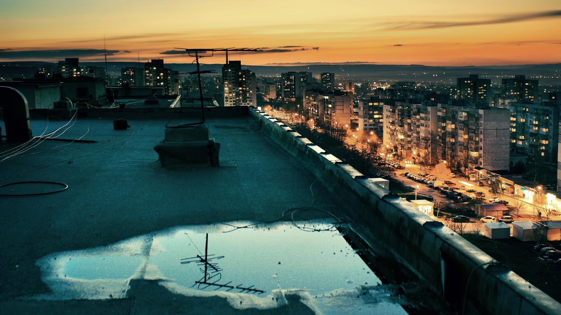 Крыши ночные картинки