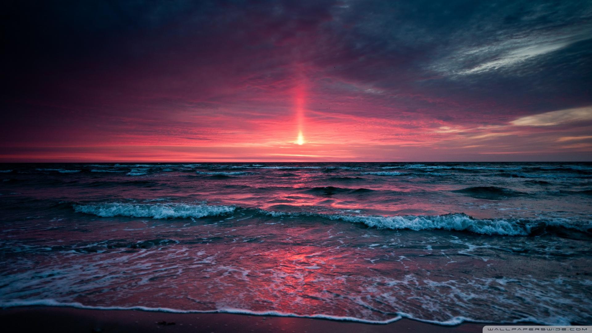 Fond d'écran : le coucher du soleil, mer, ciel 1920x1080 - artg - 1198622 - Fond d'écran - WallHere