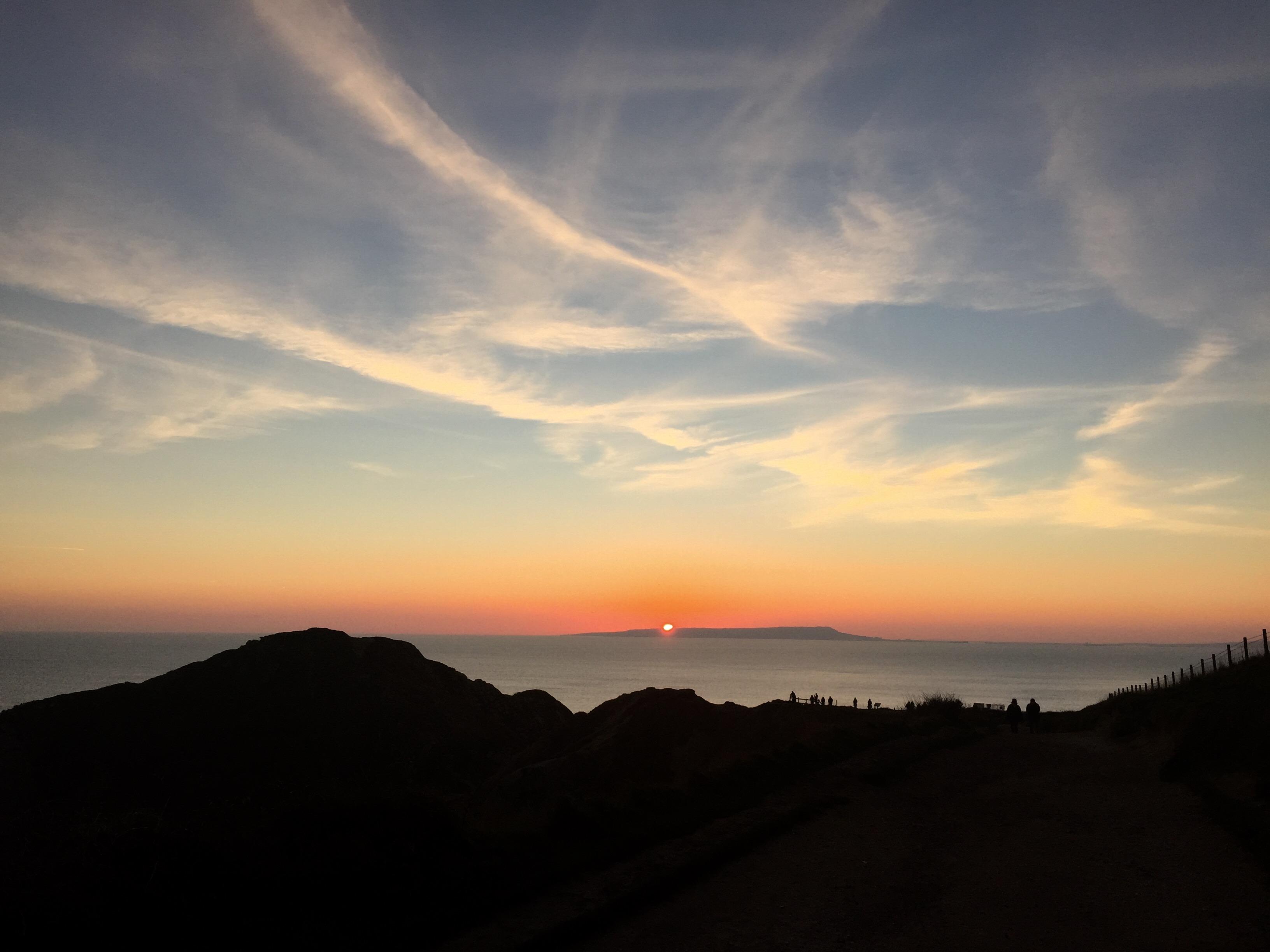 Sfondi Tramonto Mare Cielo Sole Spiaggia Nuvole Dorset