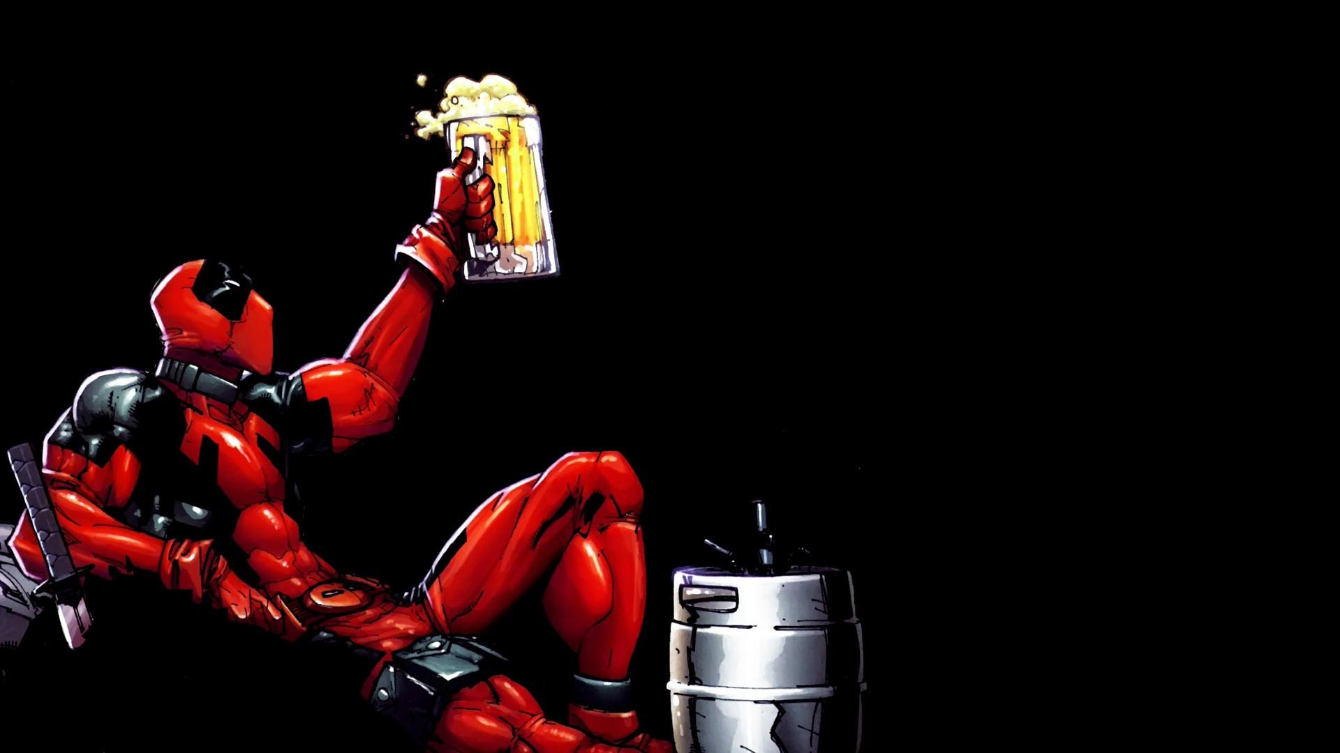 Superhero Deadpool Comic Art 1920x1080 Px Computer Wallpaper Fictional Character Action Figure