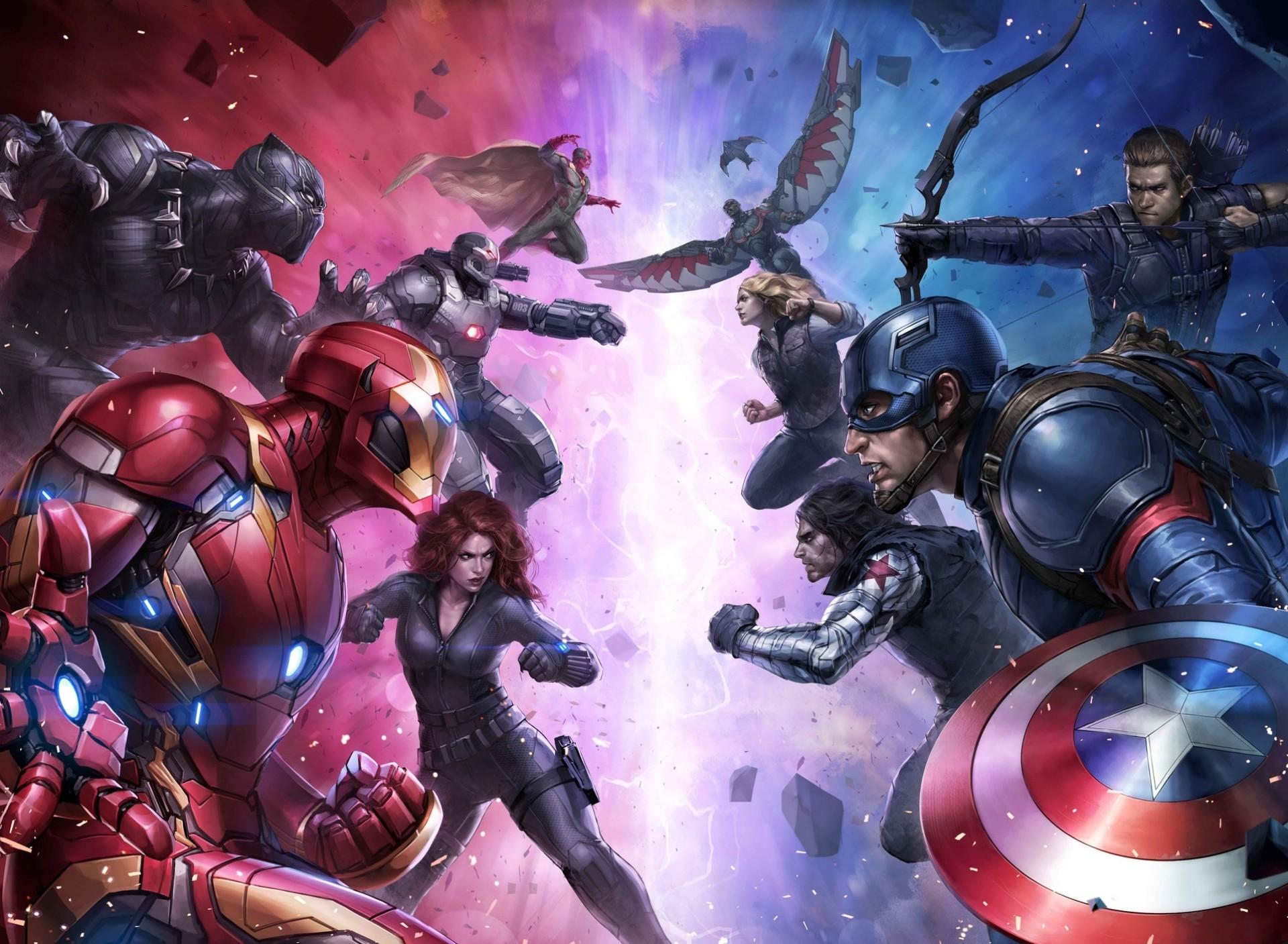 Wallpaper Superhero Iron Man Captain America Captain America