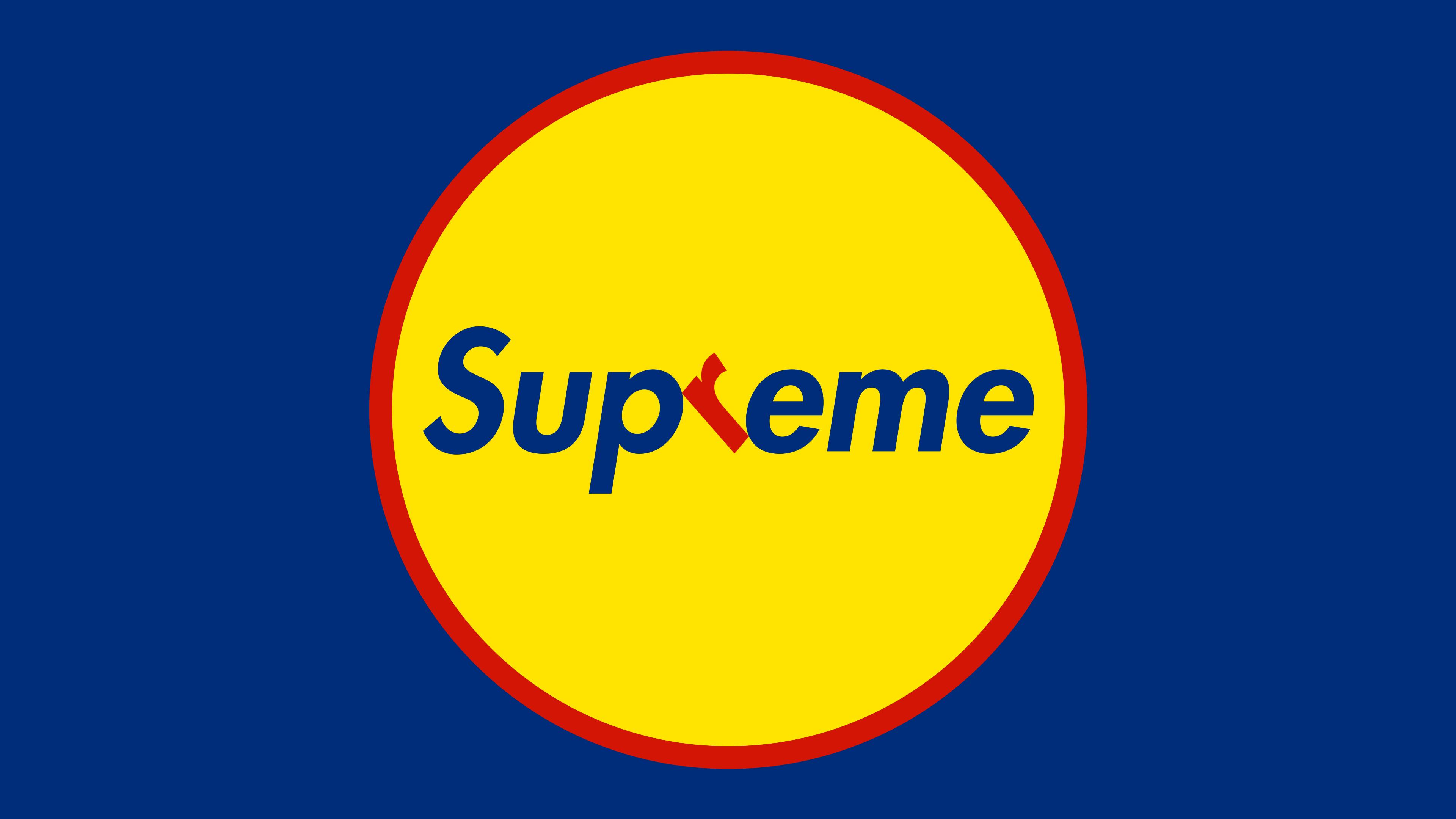 Wallpaper Supreme Logo Humor 3840x2160 Mulligamulle