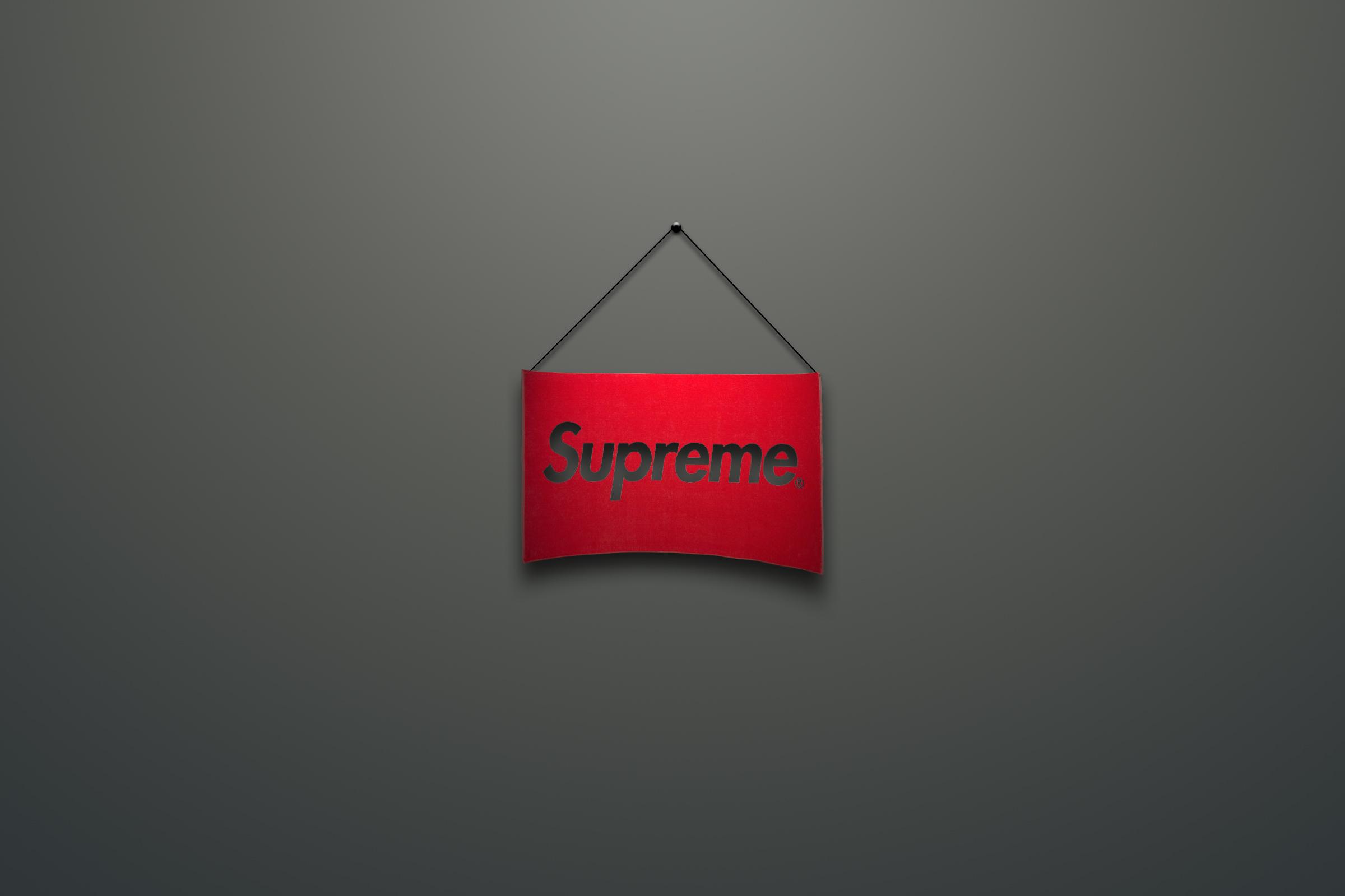 Wallpaper Supreme Logo Red Minimalism 2400x1599