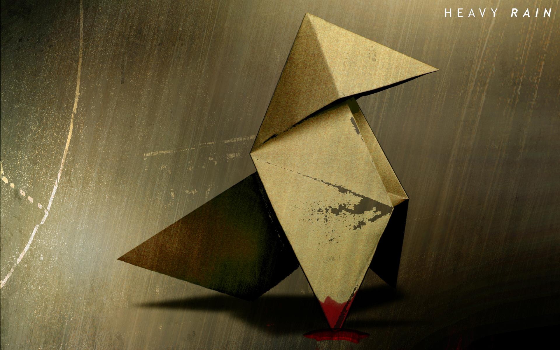 Wallpaper symmetry triangle heavy rain art leaf crane symmetry triangle origami paper heavy rain art leaf crane shape wing origami paper art paper quantic jeuxipadfo Images