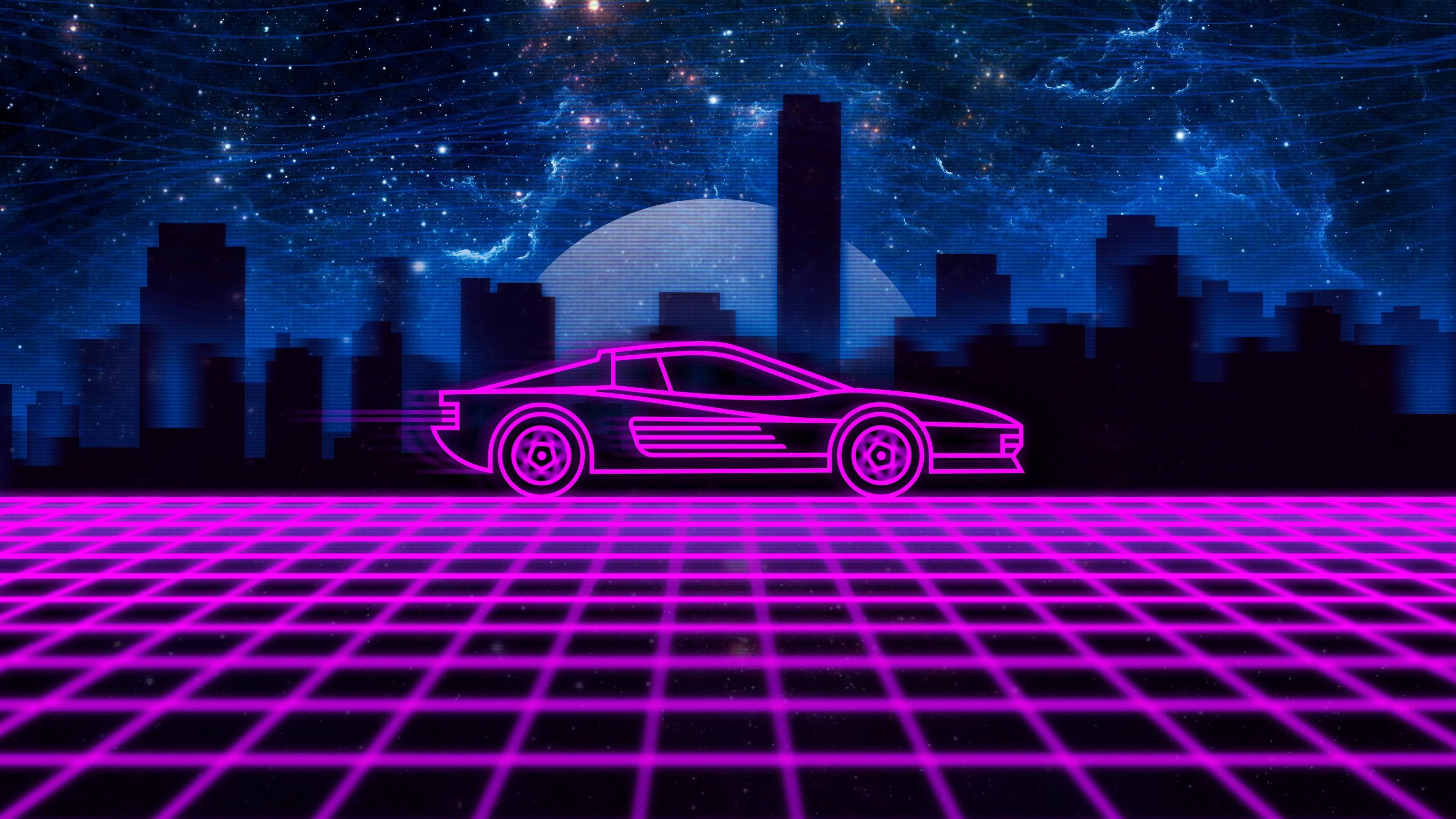 Hintergrundbilder Synthwave Neon Retrowave Ferrari Testarossa Digitale Kunst Neue Retro Wave 3840x2160 Wallpapermaniac 1452699 Hintergrundbilder Wallhere