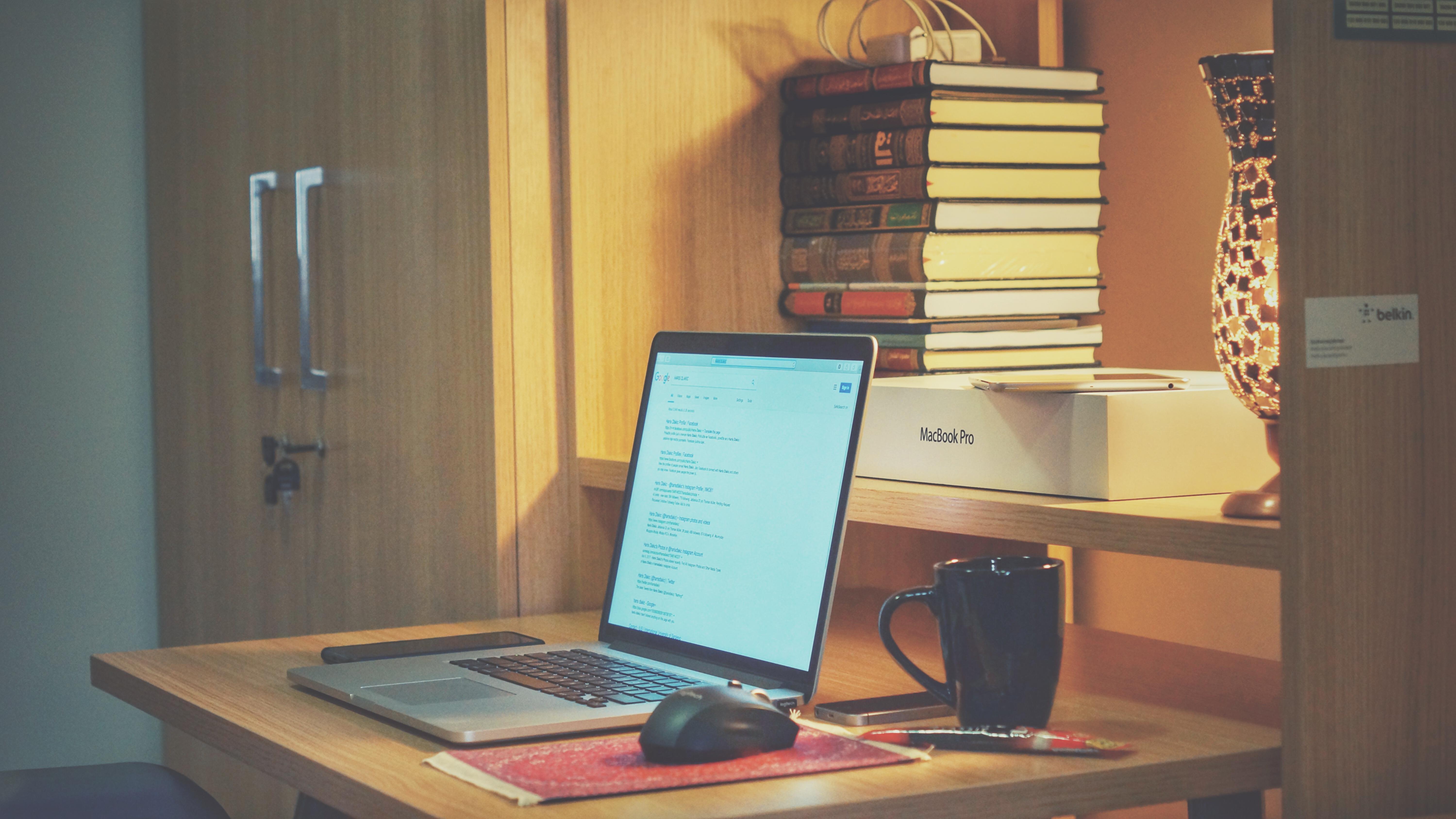 Sfondi Caffè Ufficio Il Computer Portatile Mensola Interior