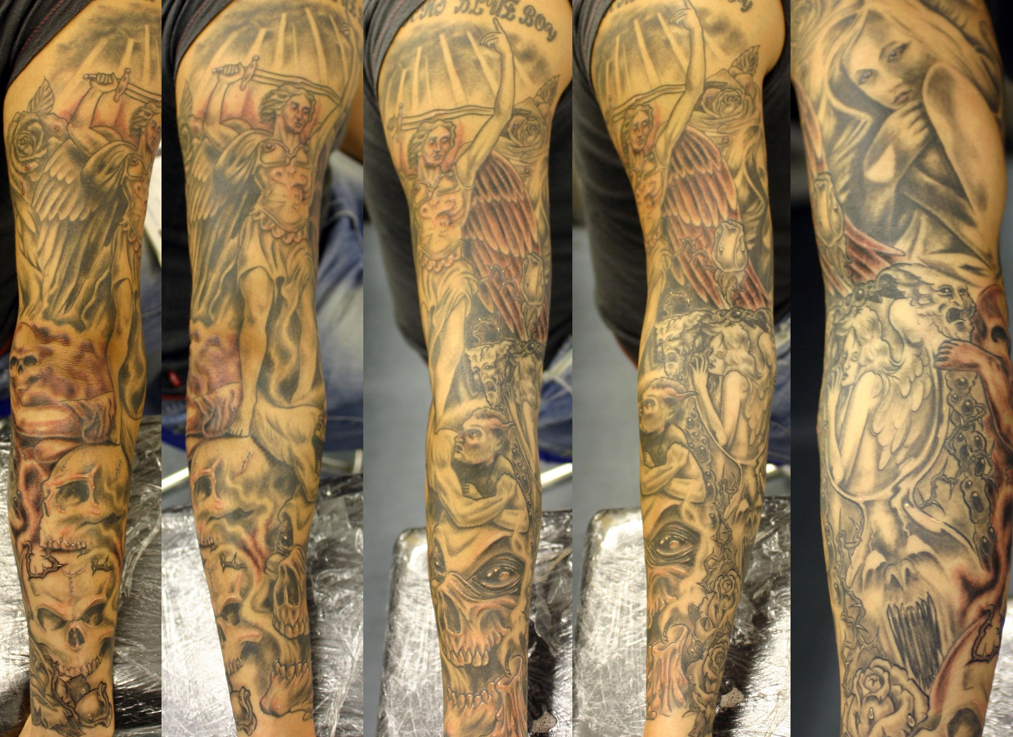 fond d'écran : tatouage, jambe humaine, bras, corps humain, tatoueur
