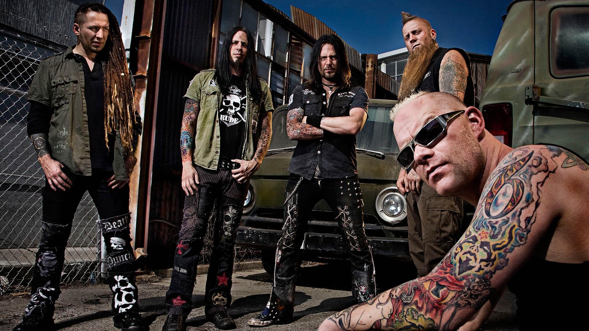 Tattoo Musician Dreadlocks Five Finger Death Punch Cars Print Gang