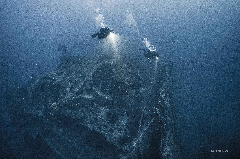 Tech Scuba Diving Greece Technical Kaiser Wreck Griechenland Kea Friedrich Wrack Tauchen Schiffswrack Wreckdiving Technisches Trimix