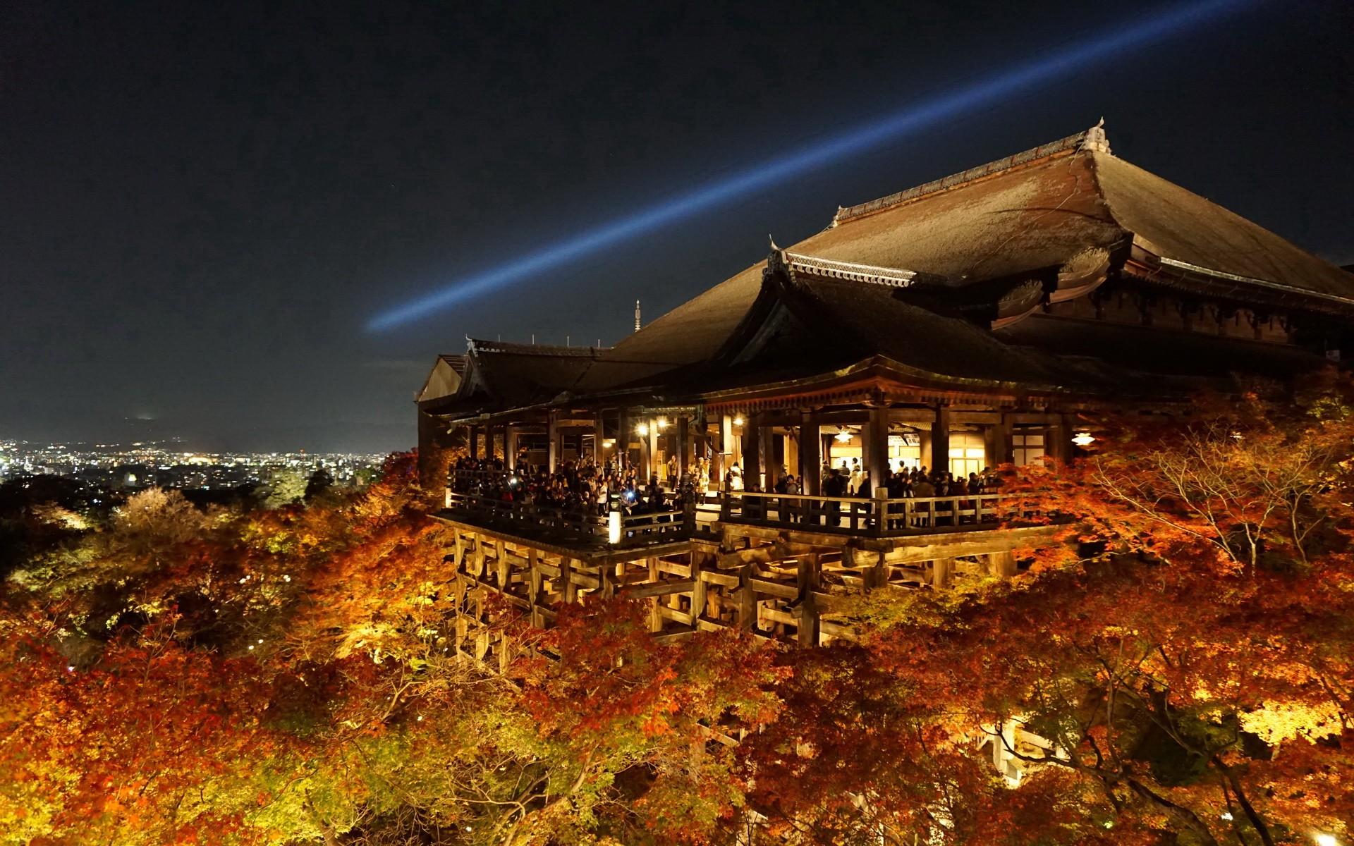 Most Inspiring Wallpaper Night Evening - temple-trees-night-evening-castle-kiyomizu-dera-Kyoto-autumn-landmark-computer-wallpaper-58368  Photograph-526048.jpg