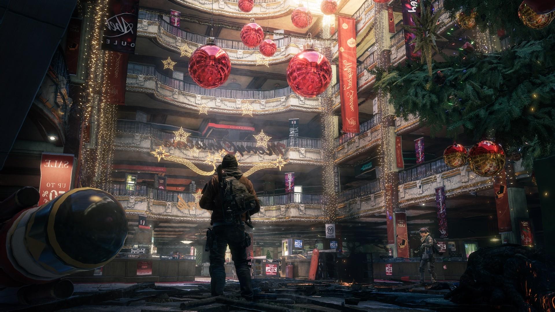 Weihnachtsbaum Spiele.Hintergrundbilder Tempel Videospiele Stadt Nacht