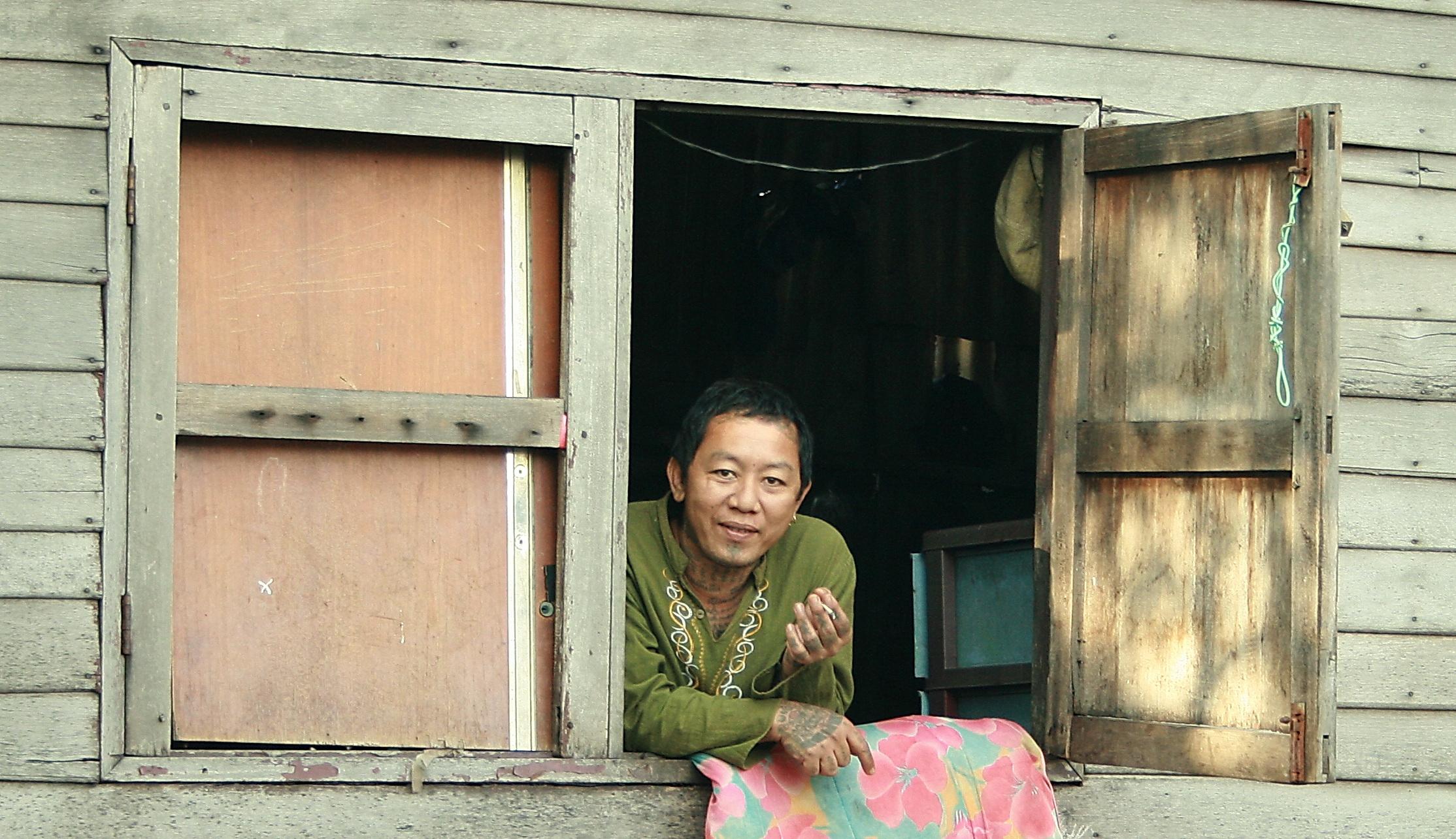 thajská dívka kouří