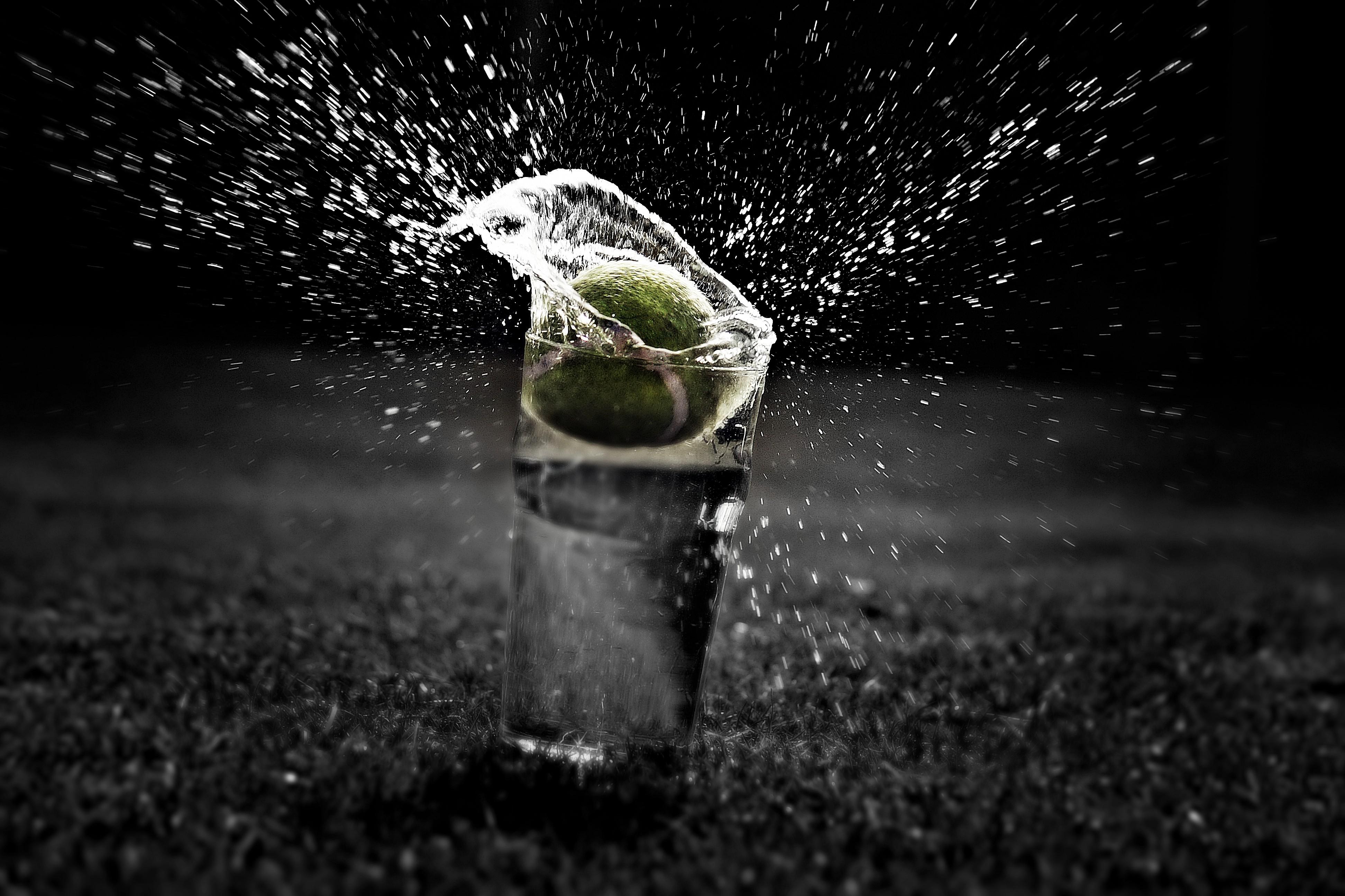 Tennis Sunlight Black Monochrome Night Water Reflection Photography Green Splashes Balls Light Weather Darkness 3888x2592