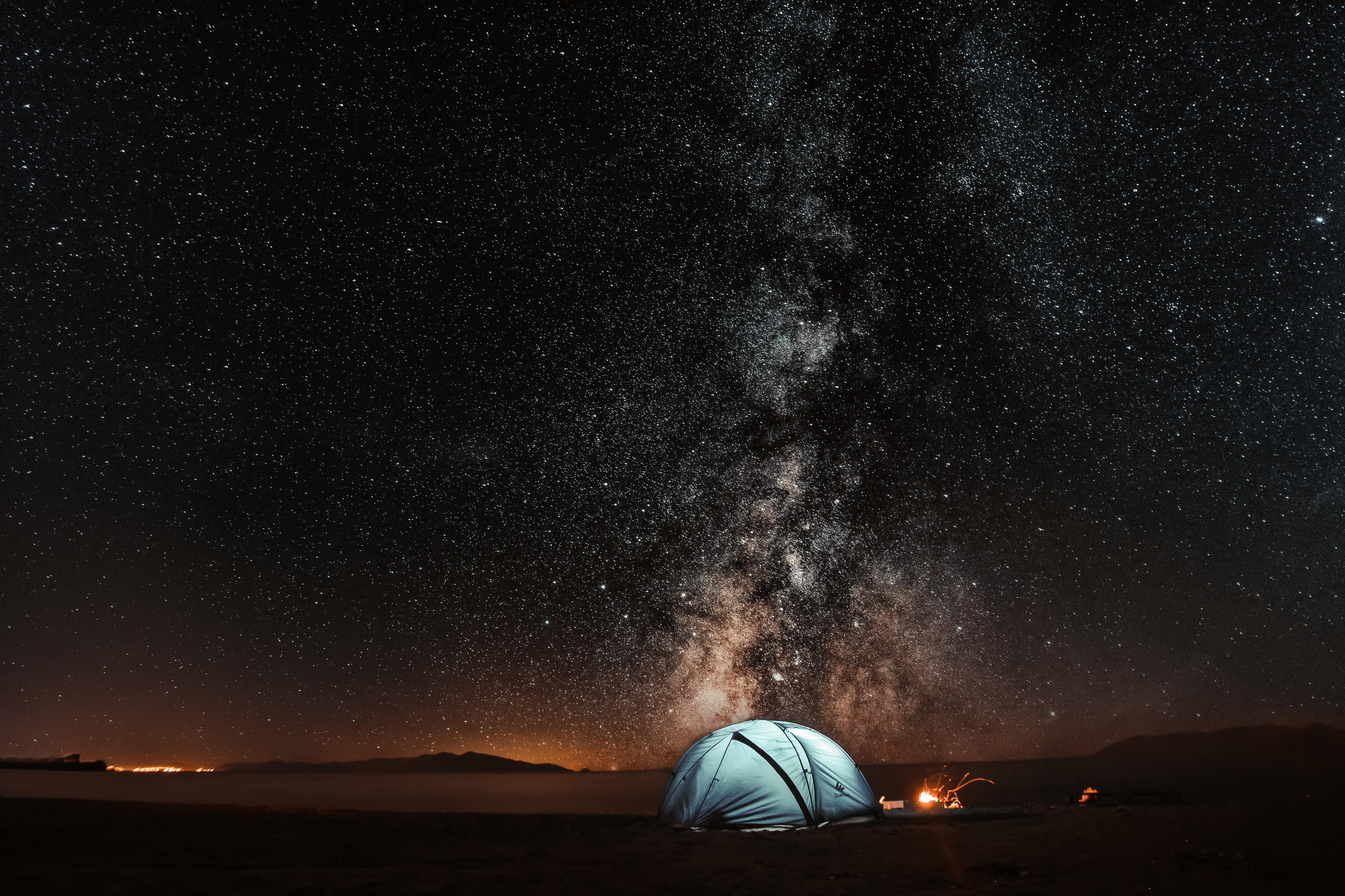 Papel De Parede : Barraca, Céu Estrelado, Noite, Turismo