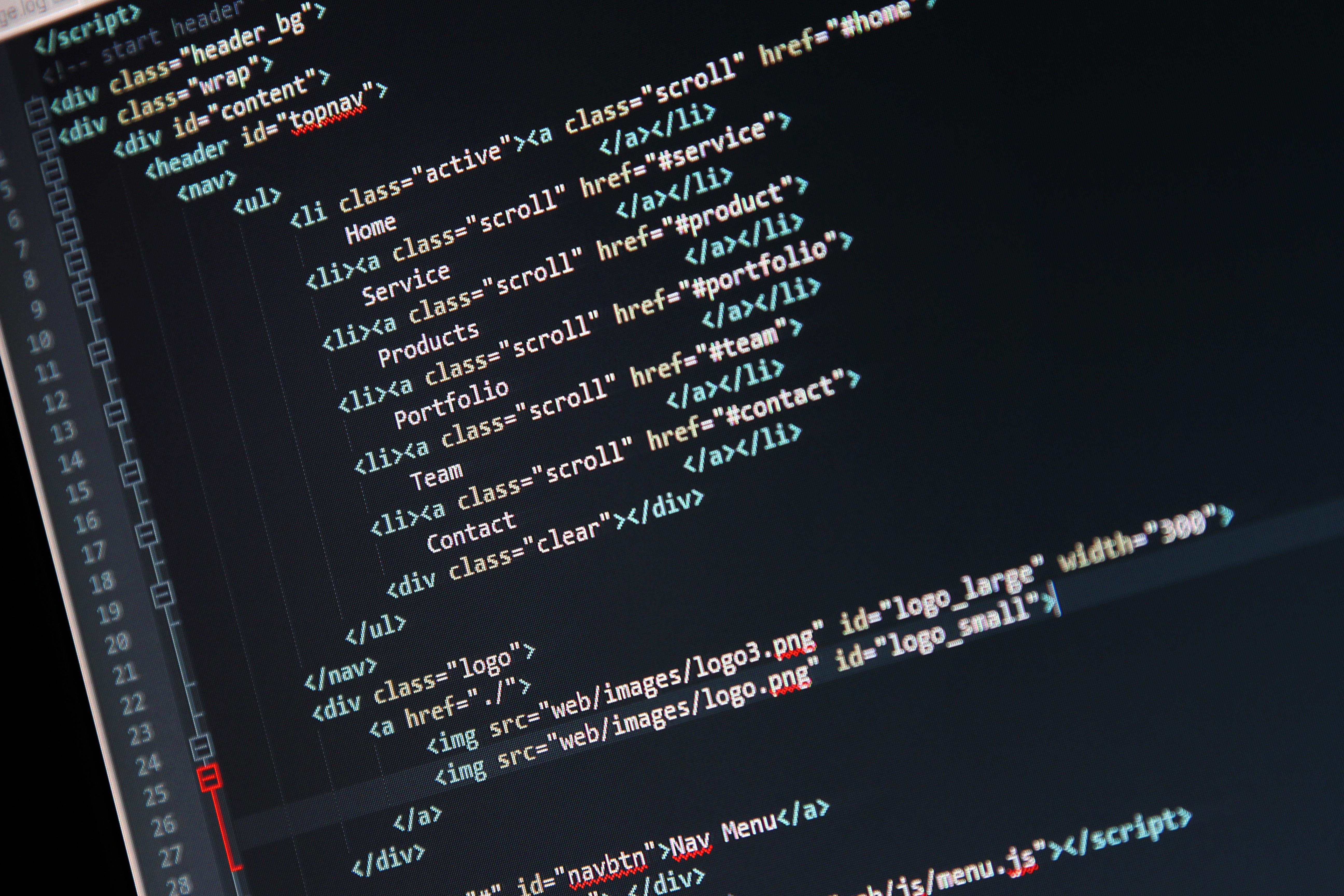 Fondos De Pantalla Texto Código Computadora Html