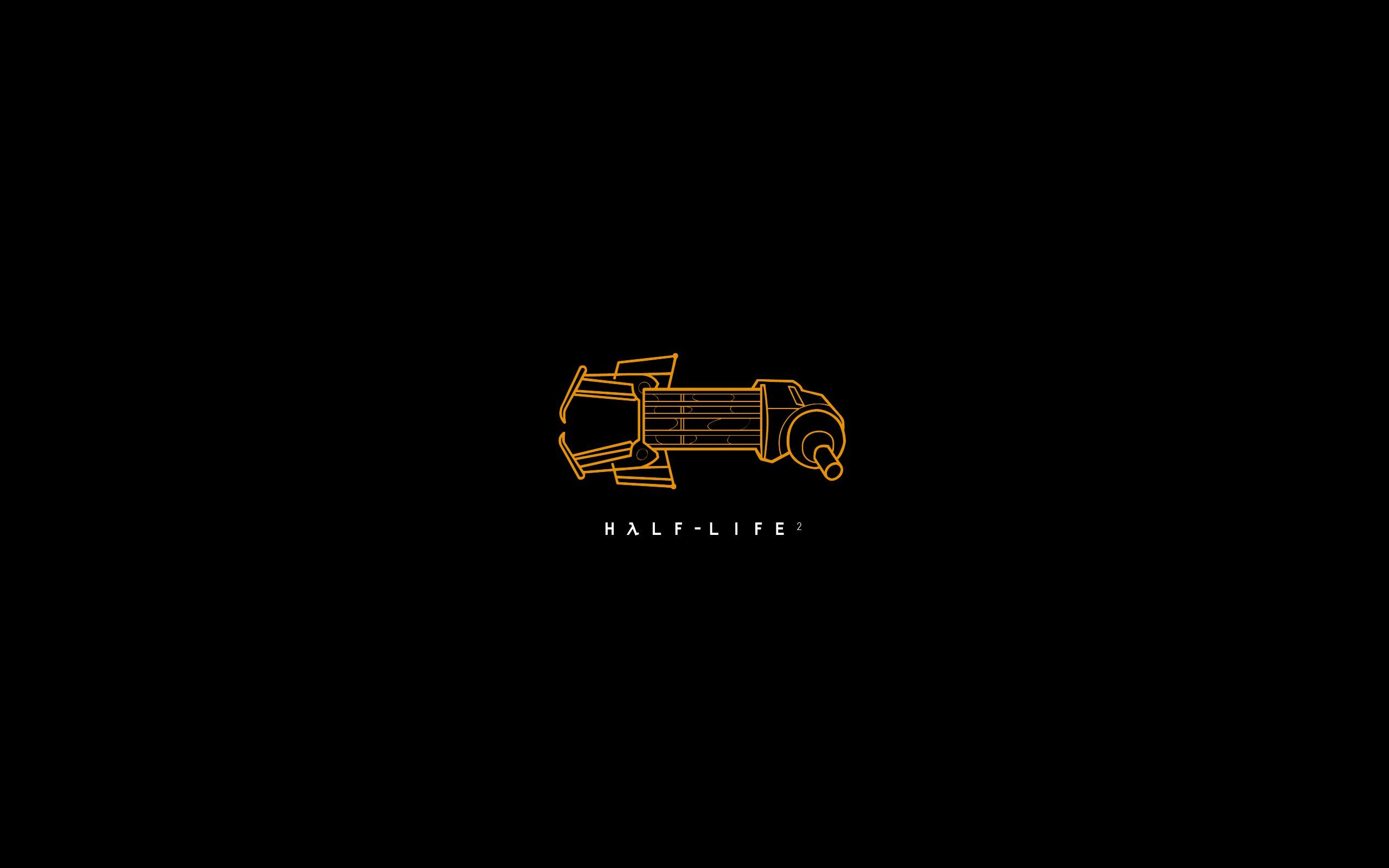 wallpaper : text, logo, brand, half life 2, gravity gun, art