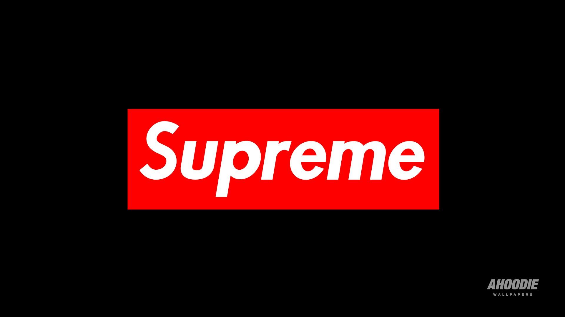 Wallpaper Text Logo Brand Supreme Presentation Font 1920x1080