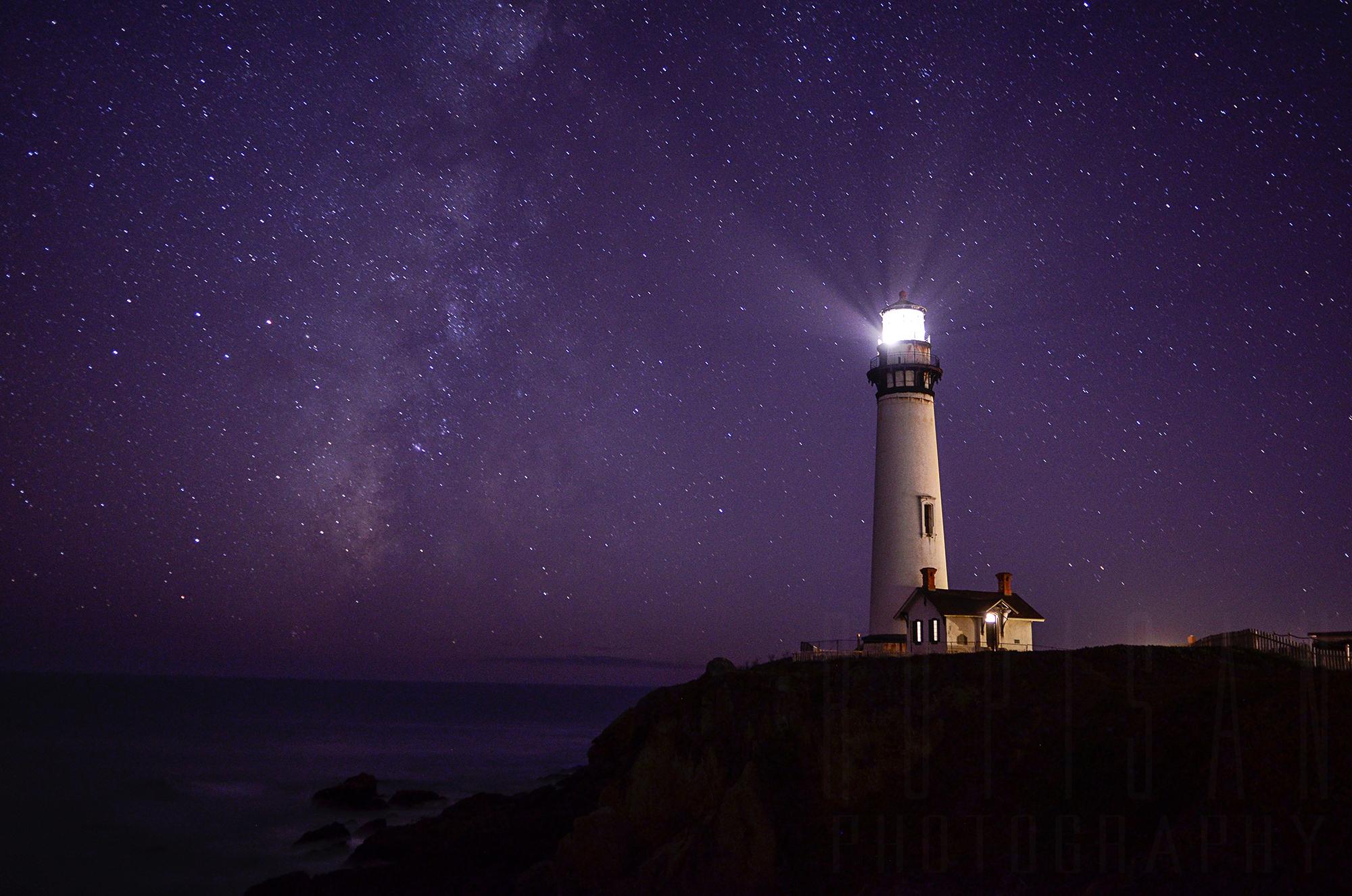 Wallpaper : tower, lighthouse, sky, atmosphere, night, sea ...