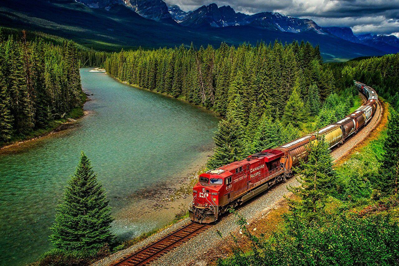 Masaüstü Tren Demiryolu Manzara Kanada 1280x854 Belleza