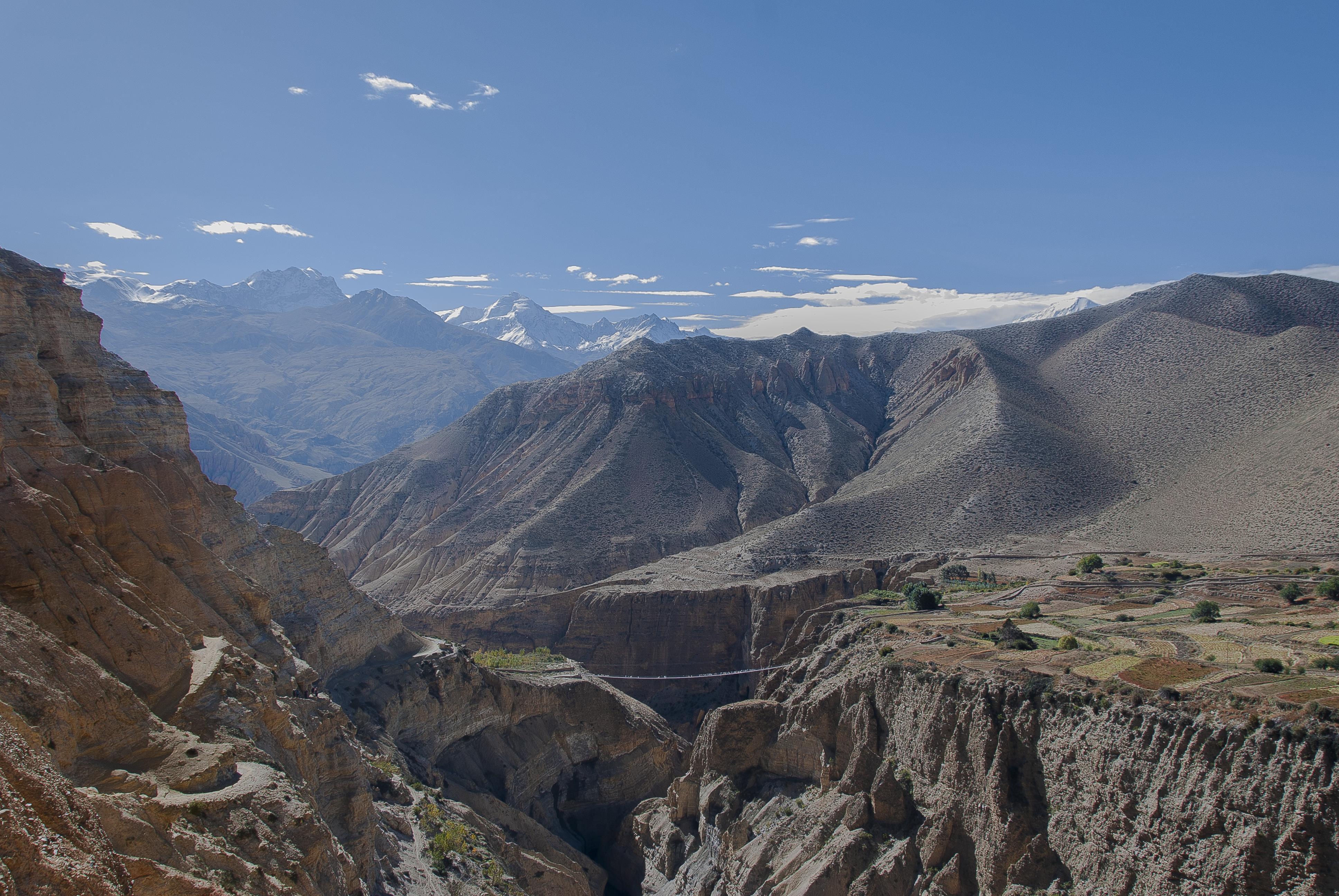 Wallpaper Travel Bridge Nepal Mountains Colour Nature
