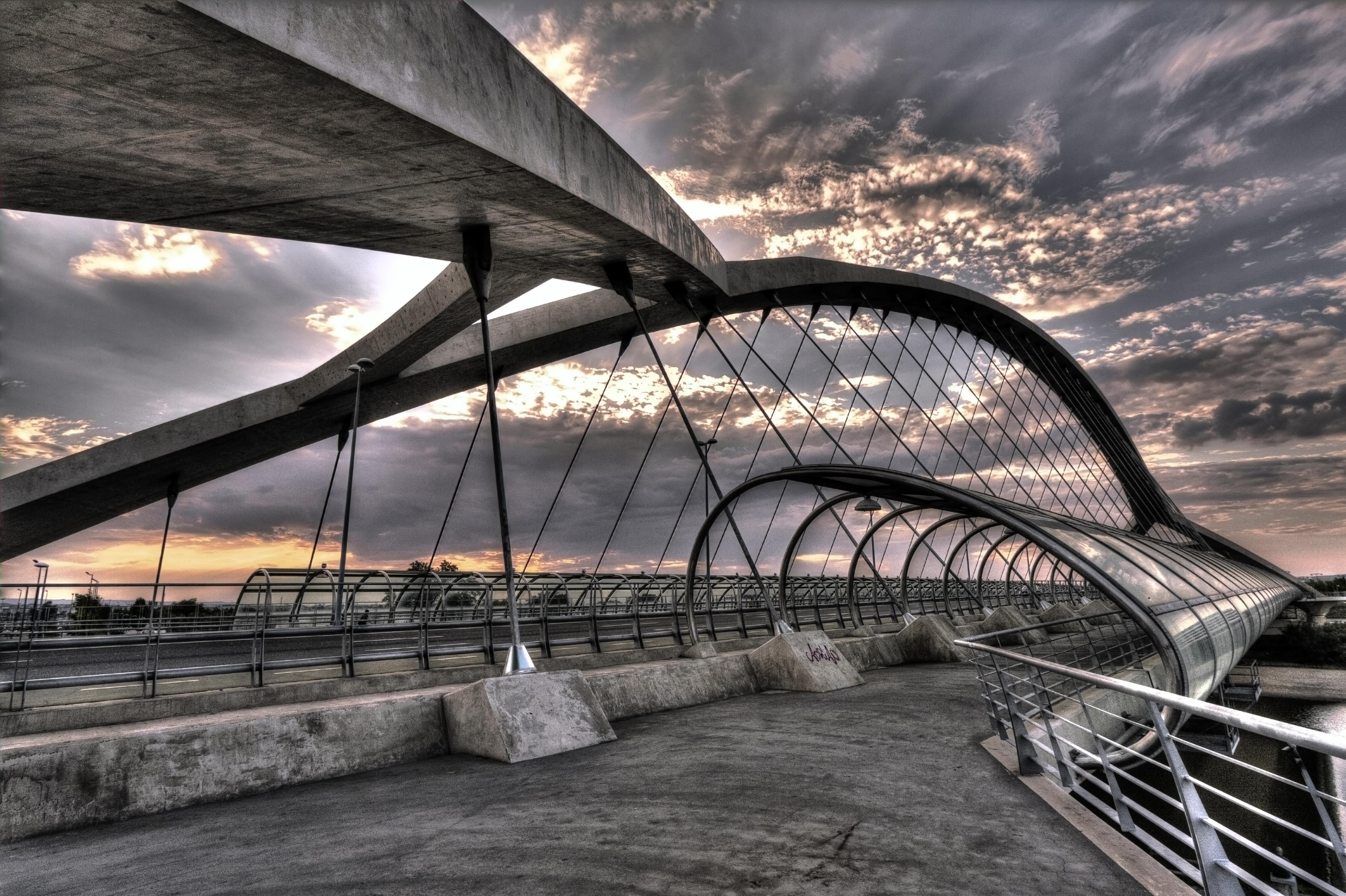 Stehlen Modern hintergrundbilder reise brücke espana linien die architektur