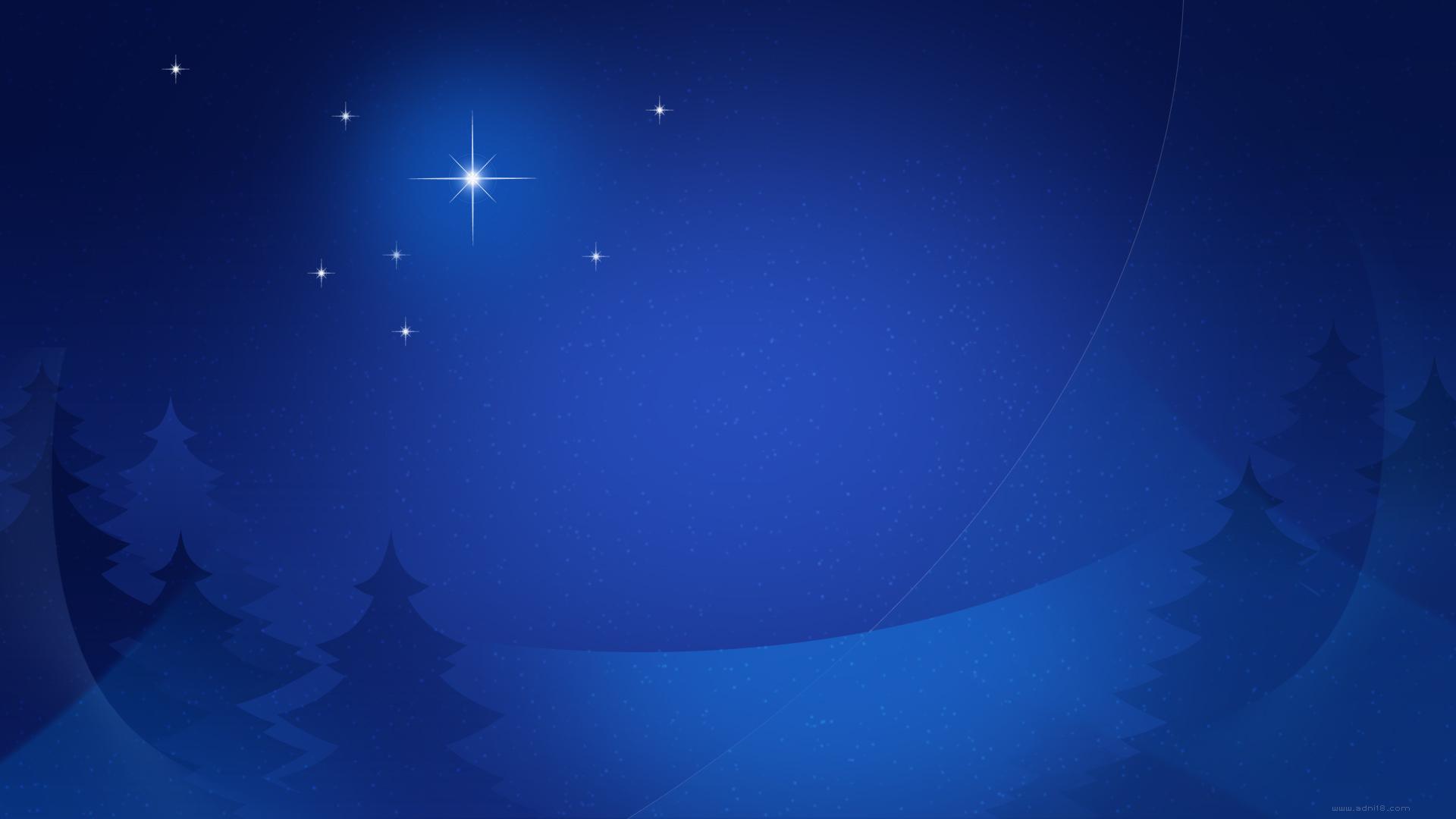 Wallpaper Trees Christmas Stars Night 1920x1080 Antistar