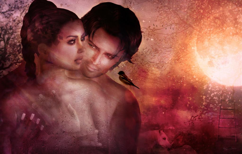 880 Romantic Poetry Couple Wallpaper HD Terbaik