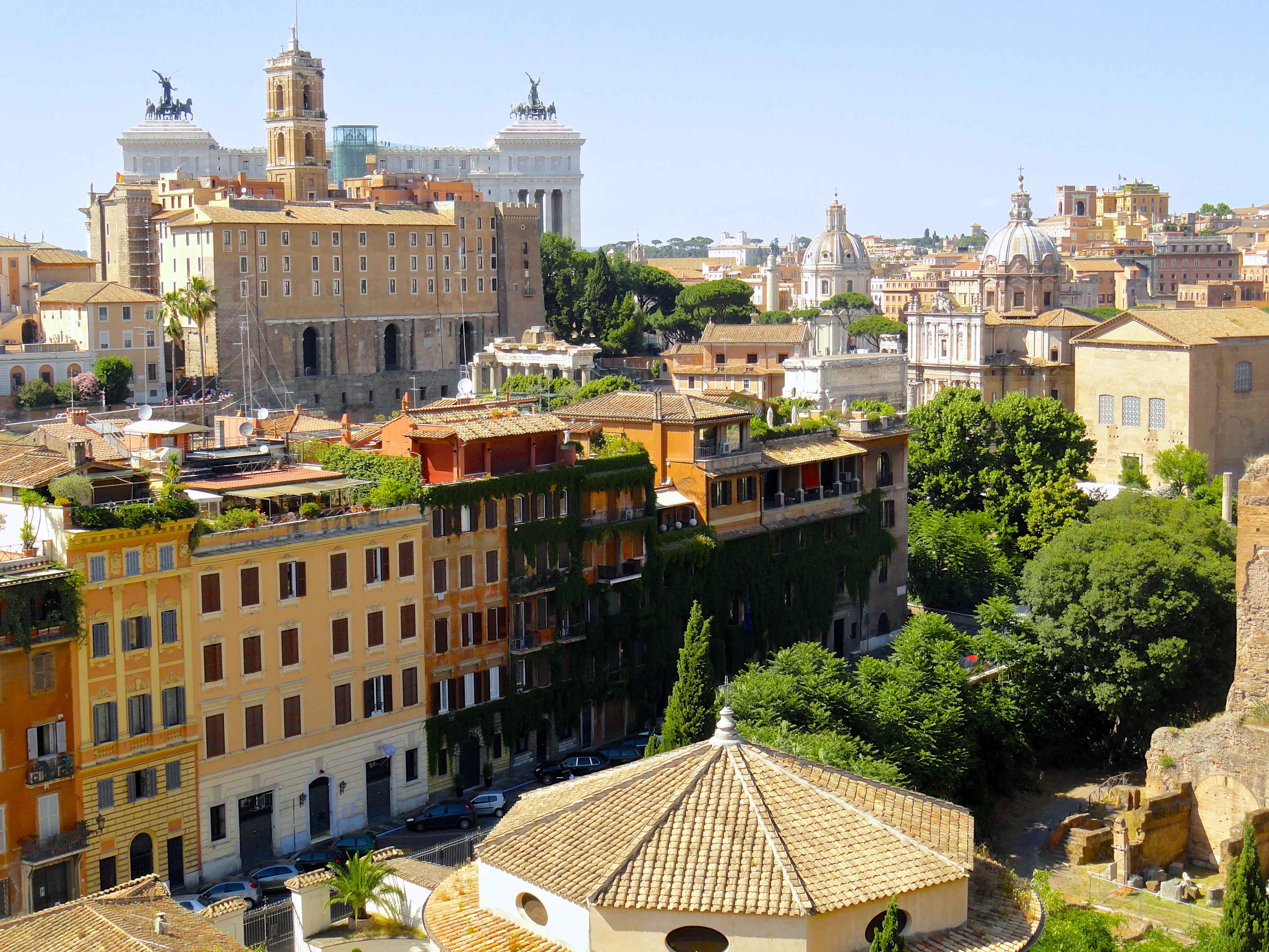 デスクトップ壁紙  木, カラフル, シティ, 都市景観, イタリア